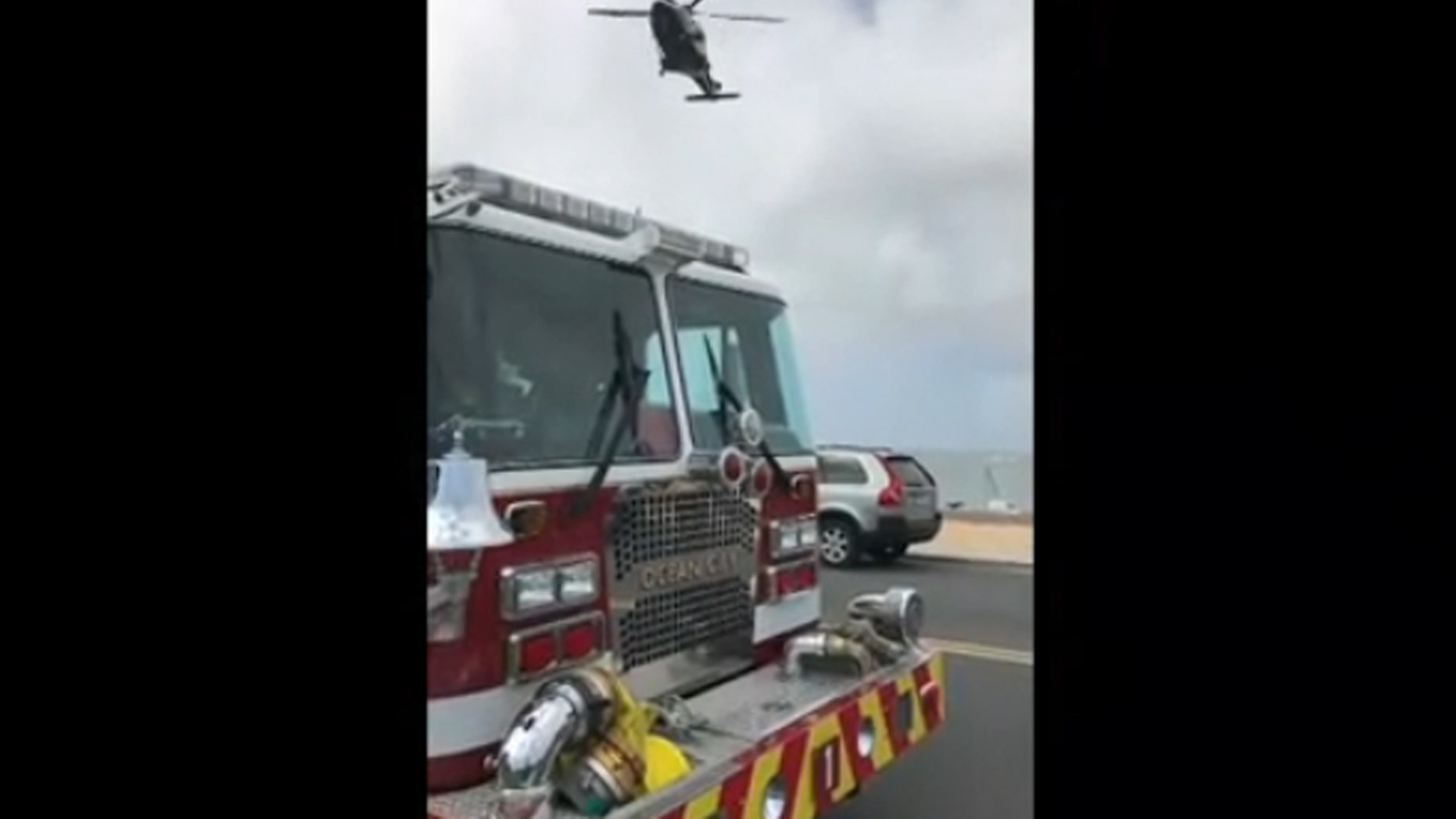 A Maryland State Police Helicopter transported a woman who was impaled by an umbrella on Sunday.