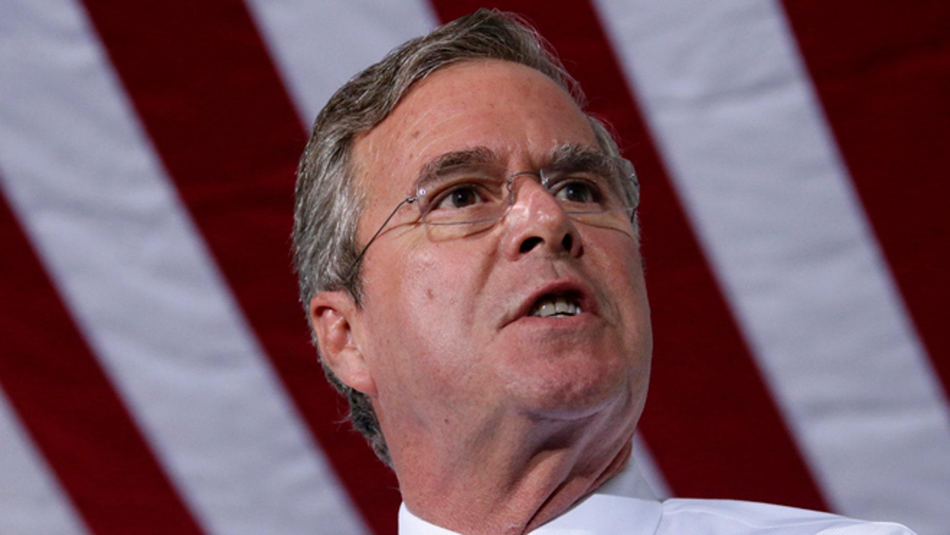 Republican presidential candidate, former Florida Gov. Jeb Bush.