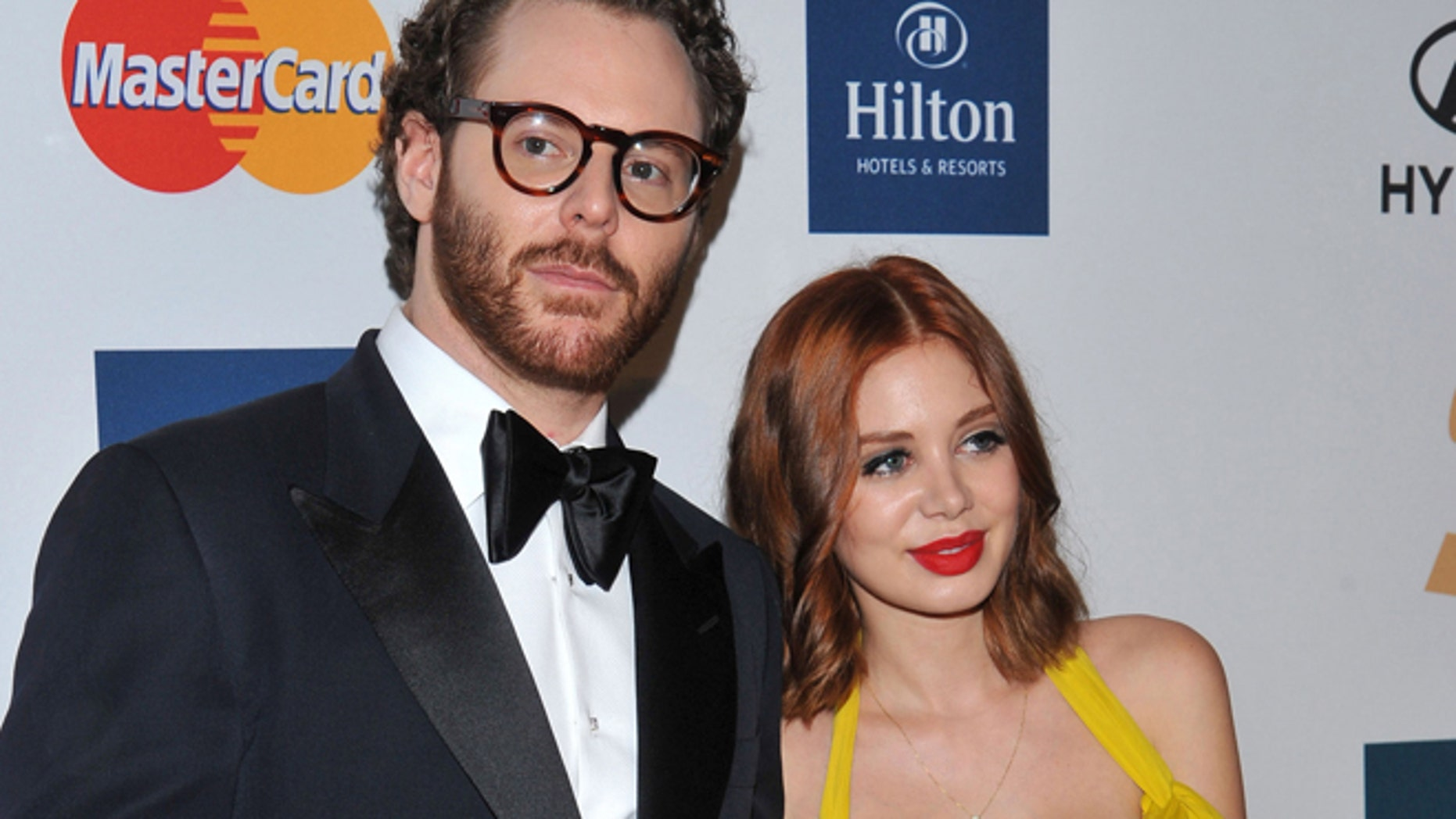 In this Feb. 11, 2012 file photo, Sean Parker, left, and Alexandra Lenas arrive at the Pre-GRAMMY Gala & Salute to Industry Icons with Clive Davis honoring Richard Branson in Beverly Hills, Calif.
