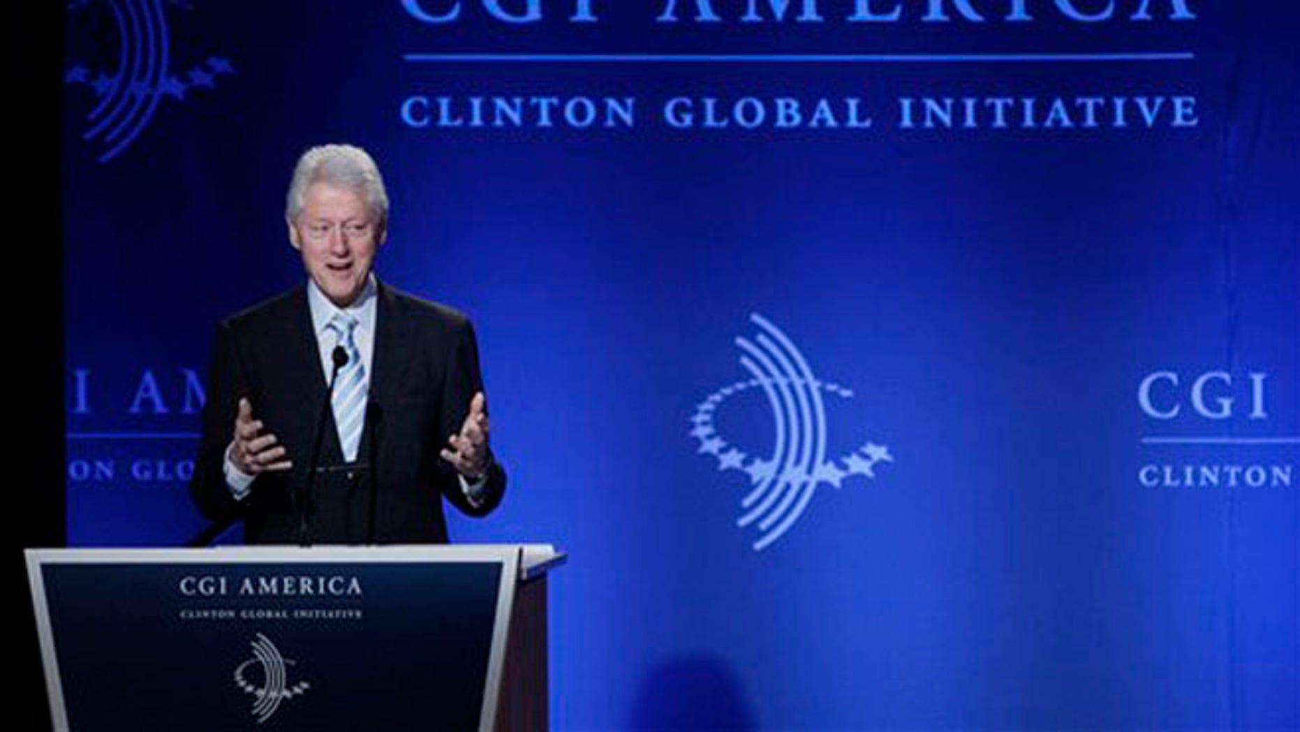 June 7, 2012: Former President Bill Clinton.