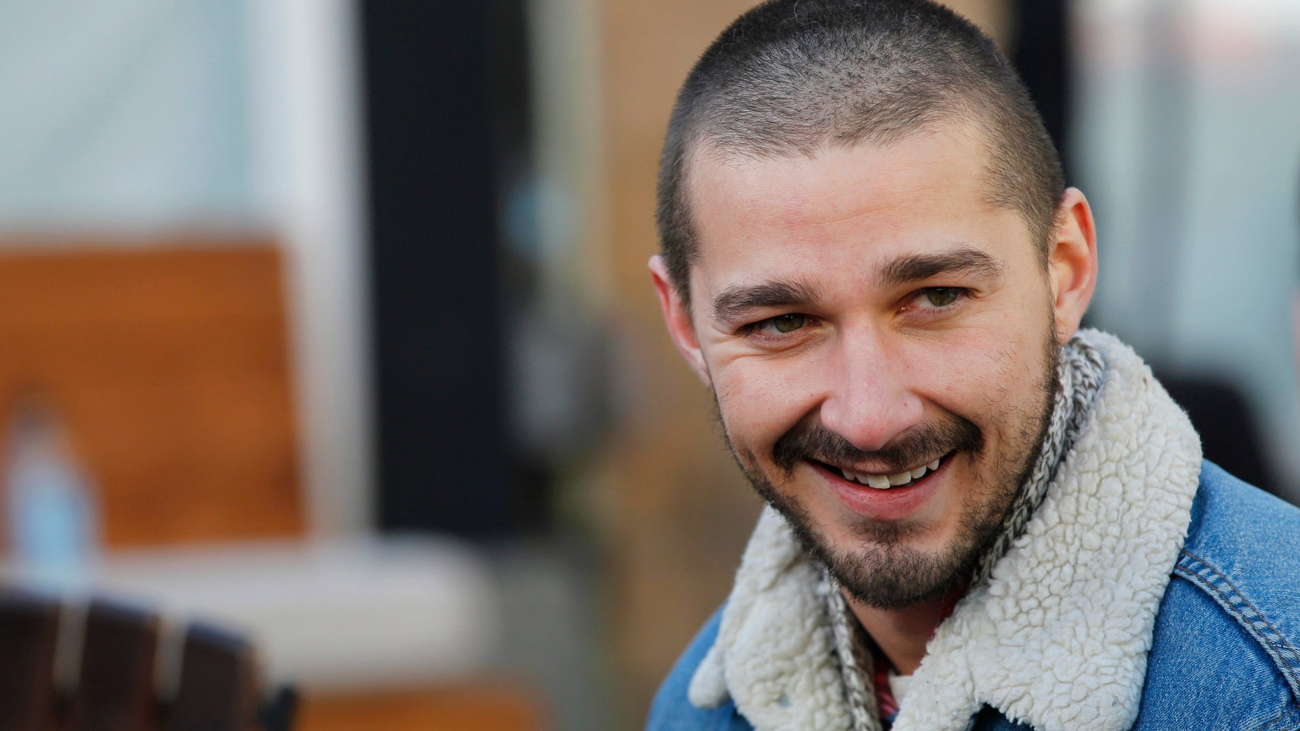 """Actor Shia LaBeouf from the movie """"The Necessary Death of Charlie Countryman"""" smiles during the Sundance Film Festival in Park City, Utah January 22, 2013. REUTERS/Mario Anzuoni  (UNITED STATES - Tags: ENTERTAINMENT HEADSHOT) - RTR3CTF5"""
