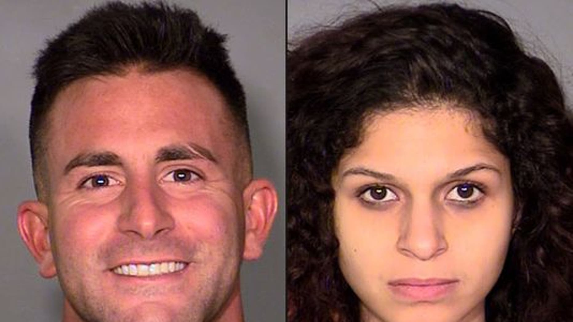 Philip Frank Panzica III, left, and Chloe Scordianos were allegedly caught on tape having sex on a Las Vegas Ferris wheel.