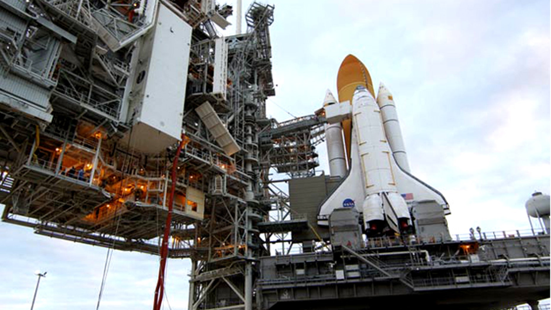 Space shuttle Discovery is prepared for its final launch into space, which is scheduled for Nov. 1, 2010 from the Kennedy Space Center in Cape Canaveral, Fla.