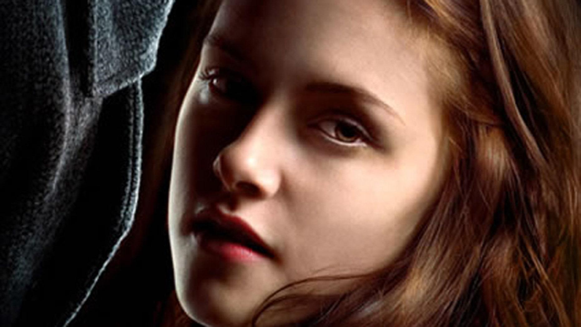 "Kristen Stewart as Bella in the ""Twilight"" series."