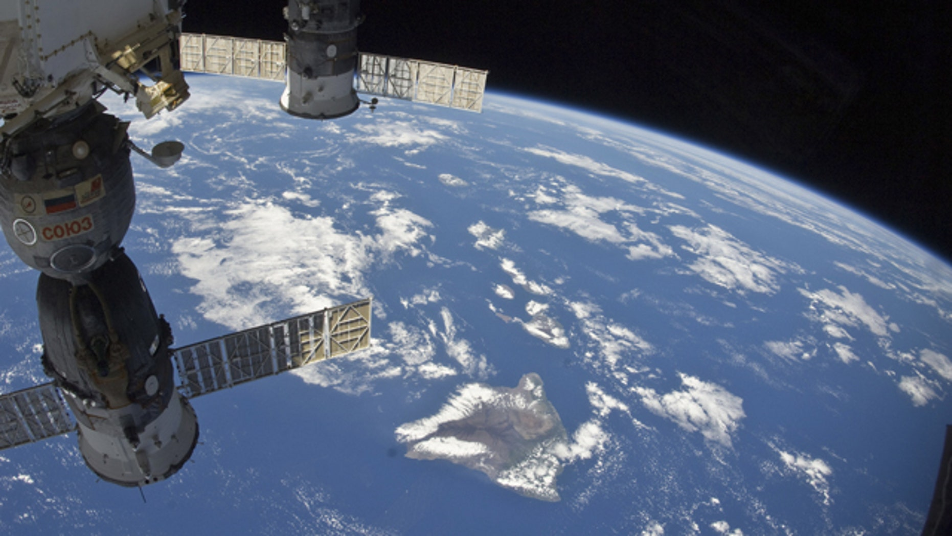 Oct. 7: Astronauts aboard the International Space Station captured this image as the station passed over the Pacific Ocean in this image provided by NASA.