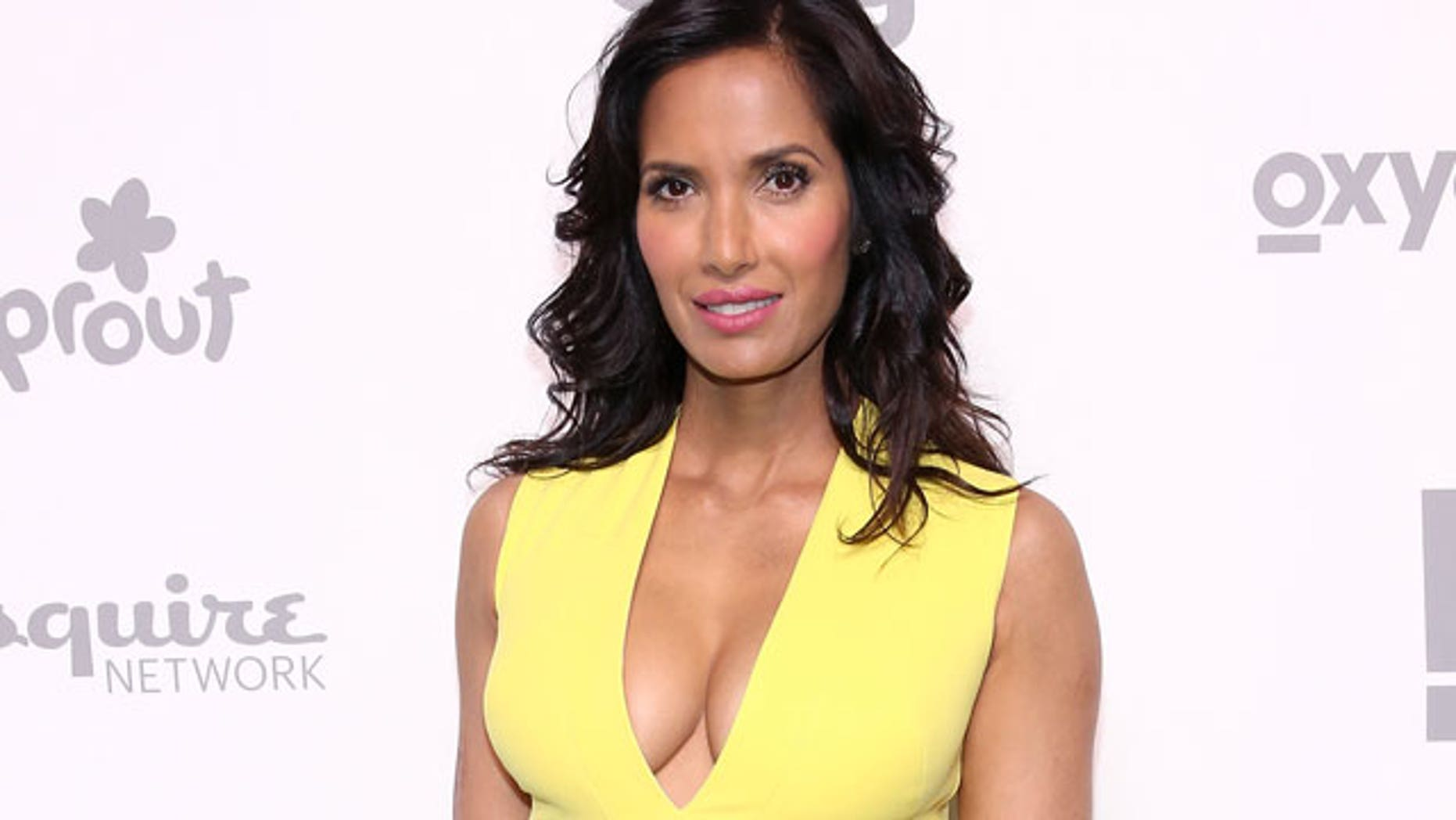 """Top Chef"" host Padma Lakshmi was allegedly threatened in 2014 while filming the competition show in Boston. (2015 Getty Images)"