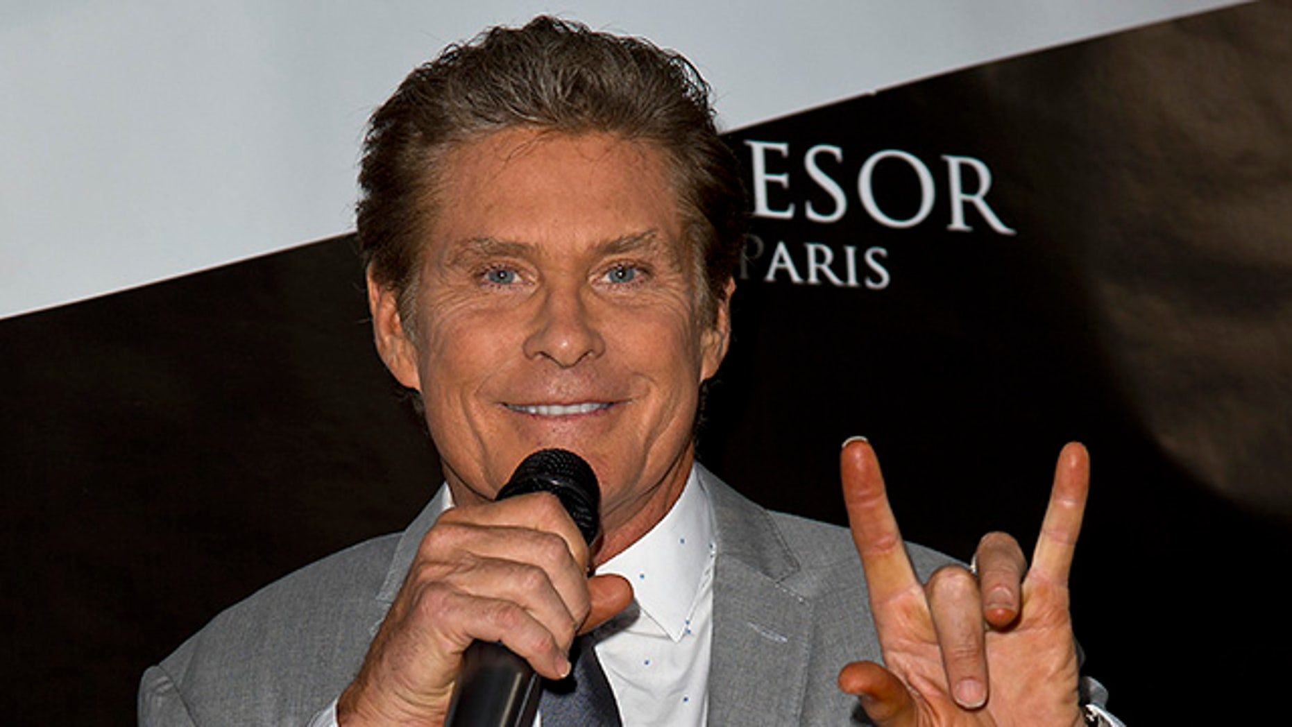 LONDON, ENGLAND - JUNE 16:  David Hasselhoff attends the Tresor Paris Store launch on June 16, 2015 in London, England.  (Photo by Ben A. Pruchnie/Getty Images)