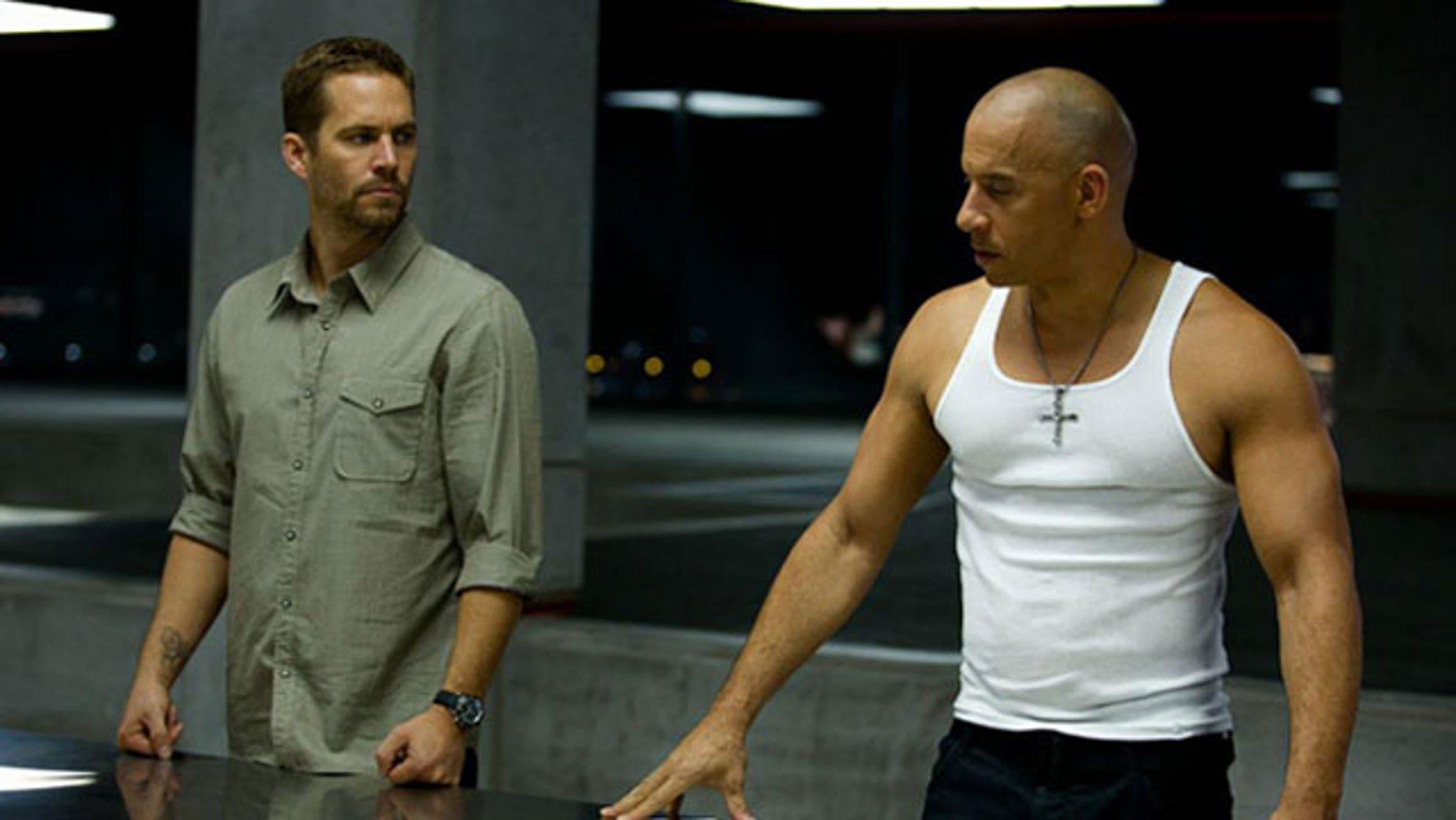 """Paul Walker and Vin Diesel in """"Furious 6."""""""