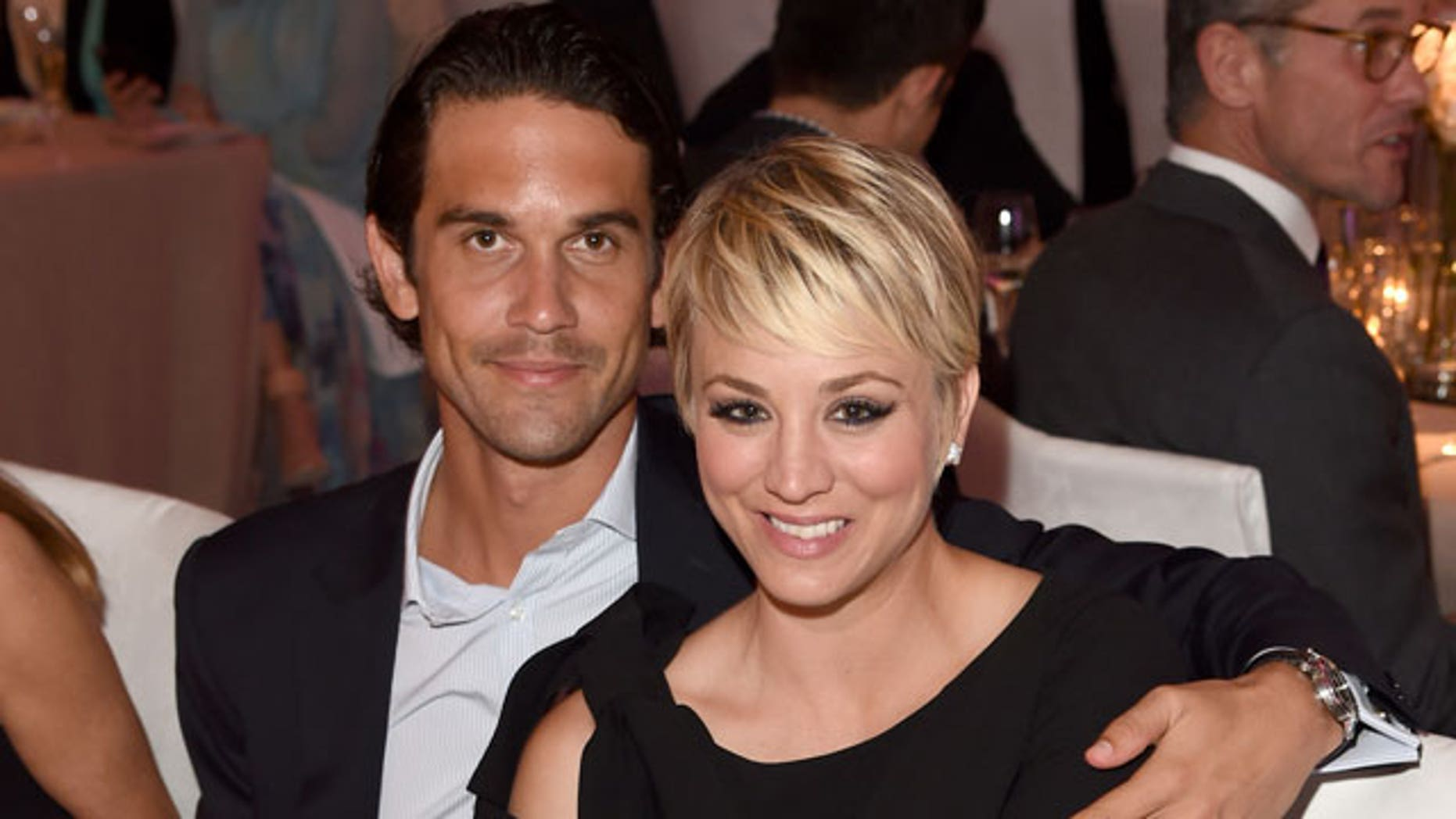 Ryan Sweeting and Kaley Cuoco. The couple recently announced they are divorcing.