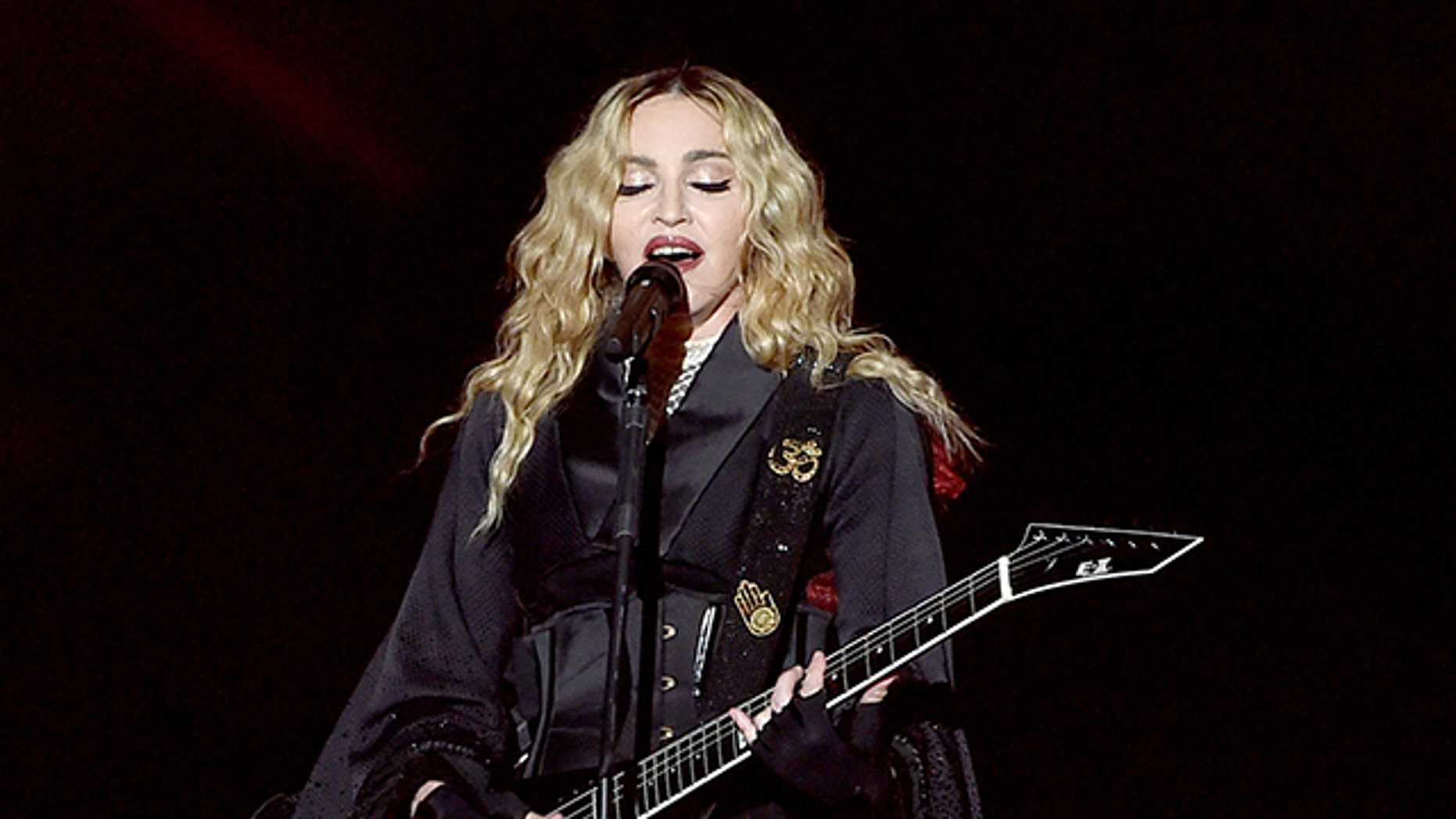 January 2016. Madonna in concert.