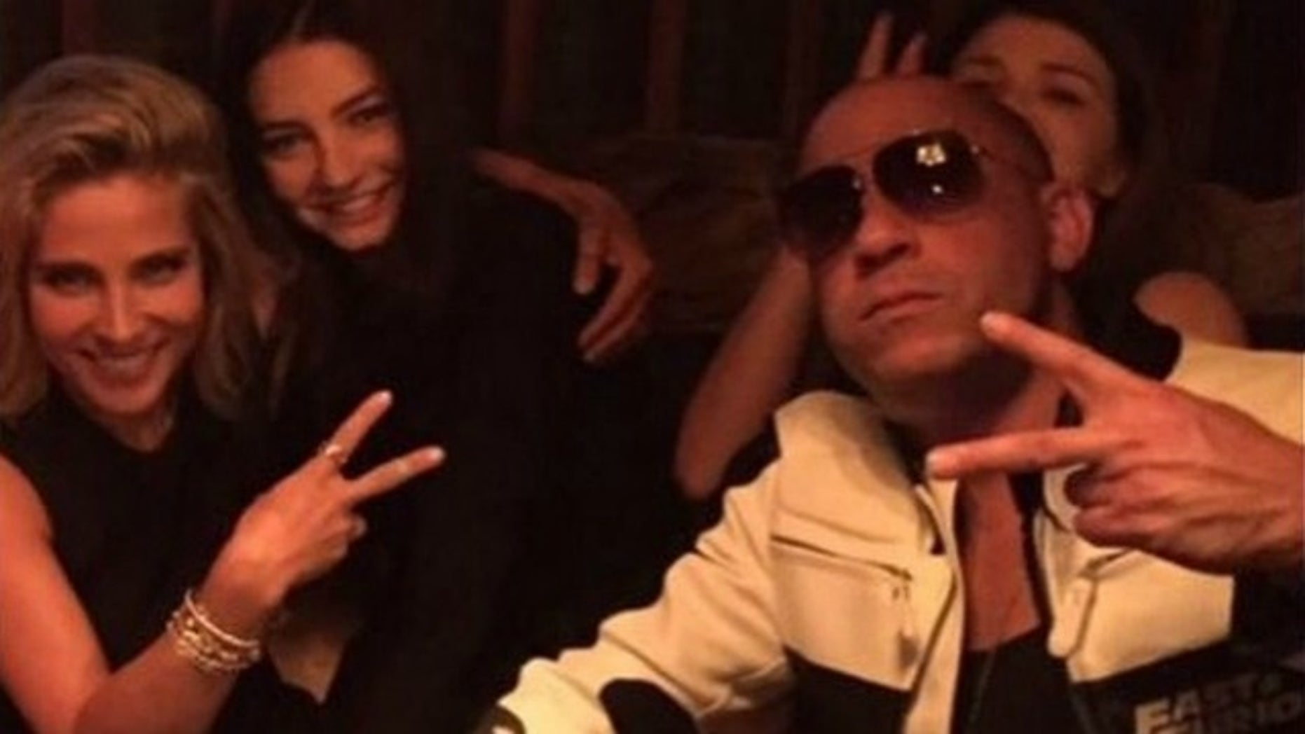 """Paul Walker's daughter Meadow poses for Instagram photo with """"Furious 7"""" stars Vin Diesel and Elsa Pataky."""