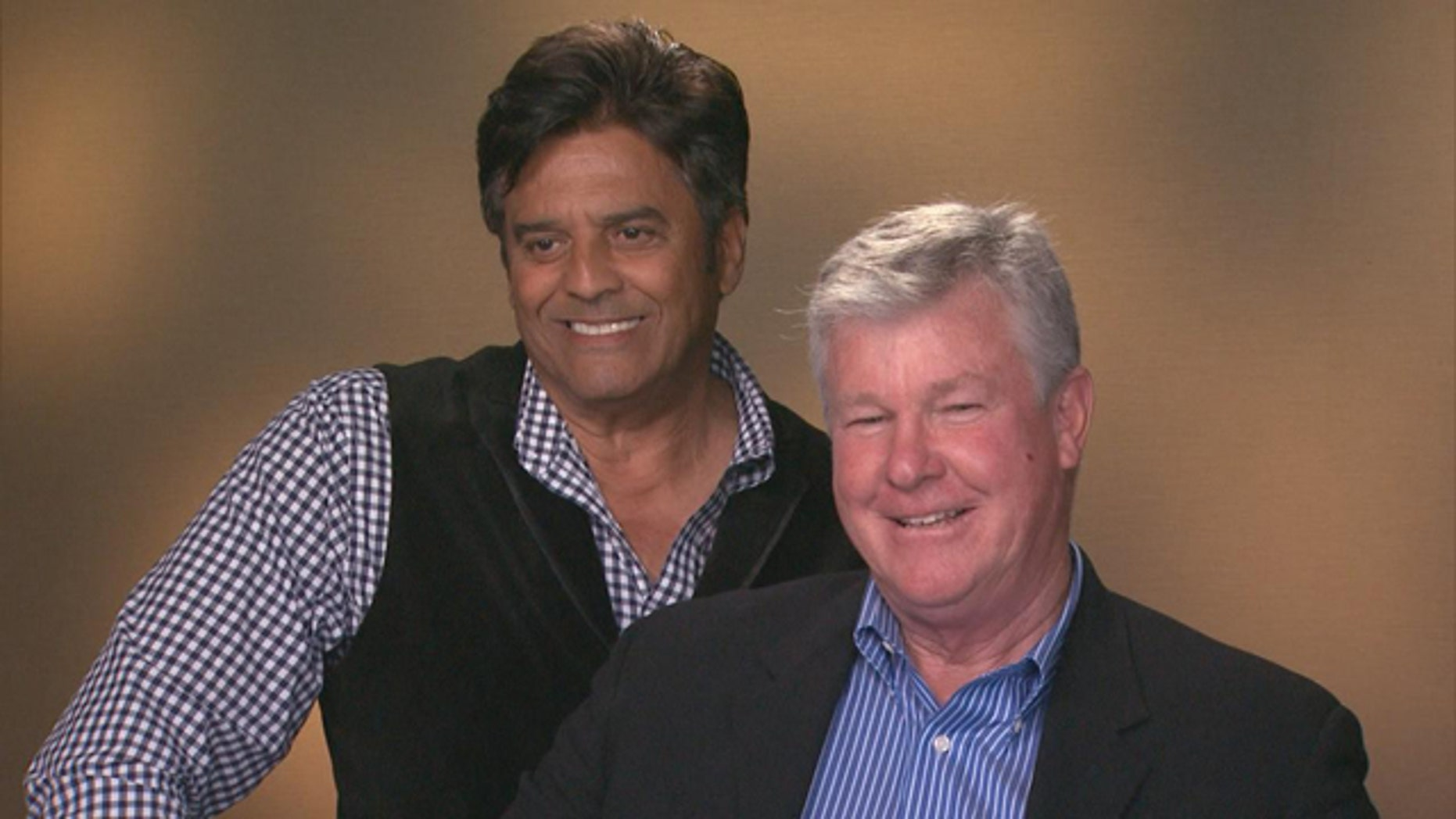 "Erik Estrada and Larry Wilcox from ""CHiPs."""