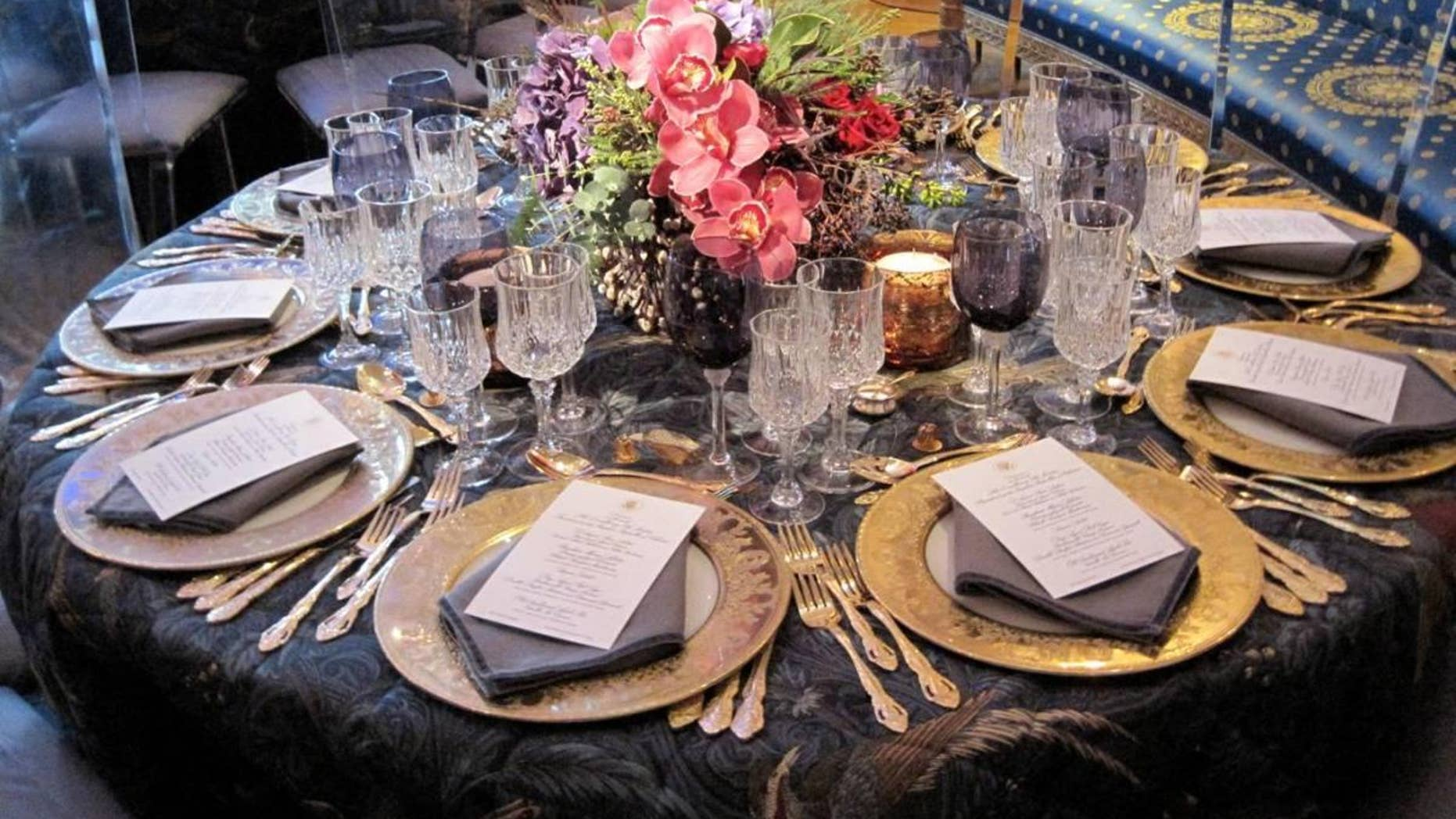 Table setting in the Blue room. (Fox News)