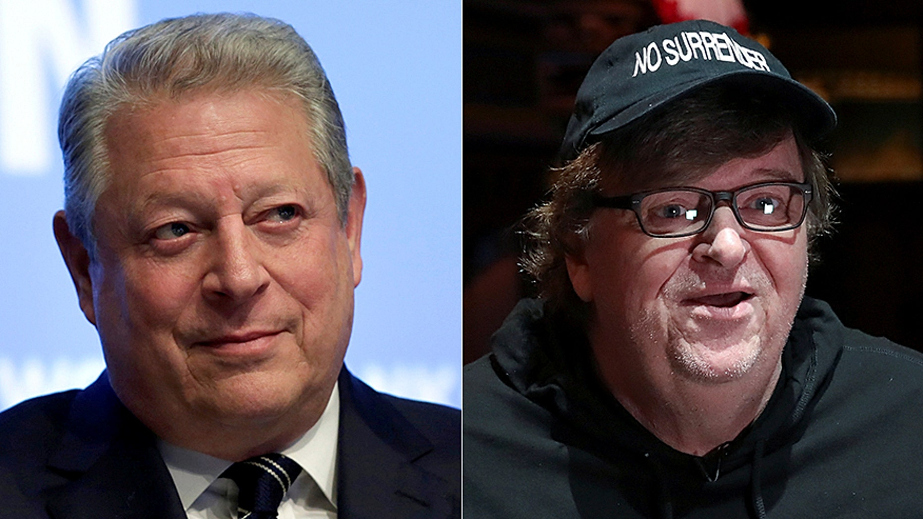 Al Gore and Michael Moore