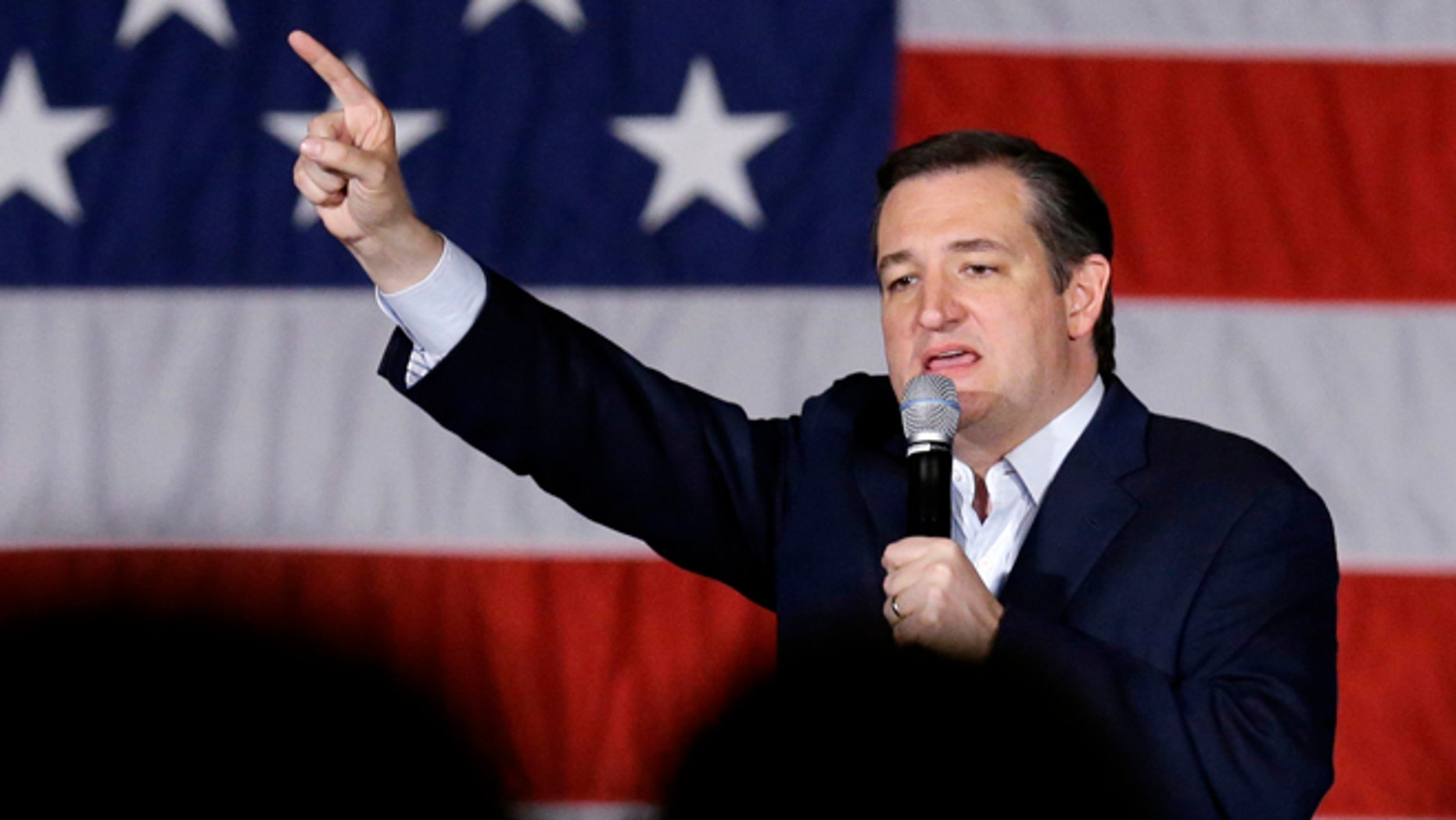 Republican candidate Ted Cruz on Monday, April 4, 2016, in Waukesha, Wis.