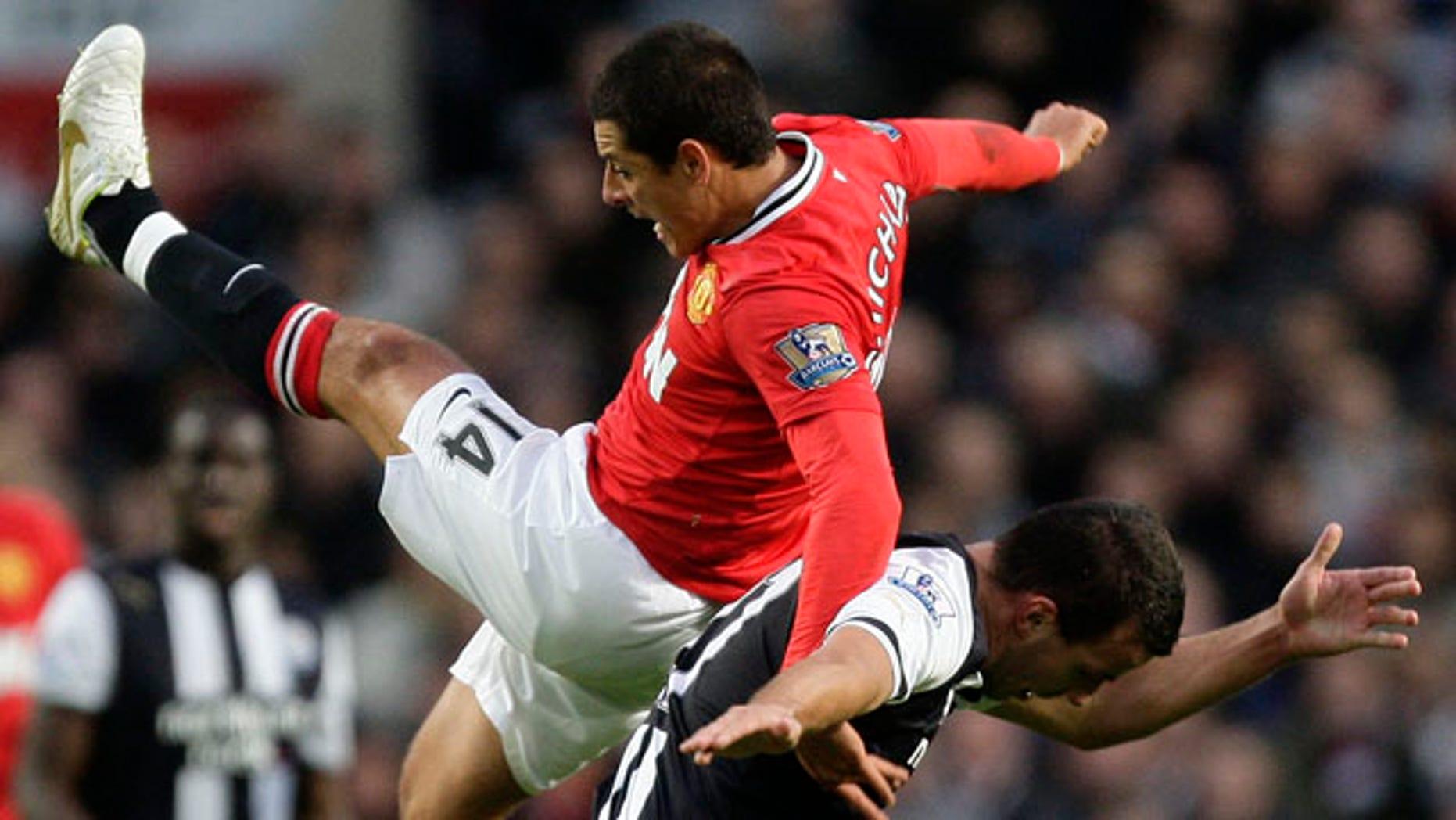 "Javier Hernandez, or ""Chicharito, of Manchester United."