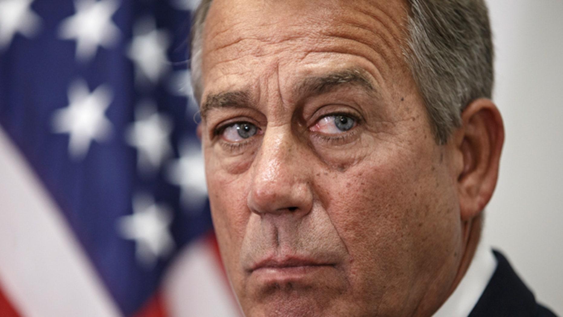 FILE -- Jan. 13, 2015: House Speaker John Boehner