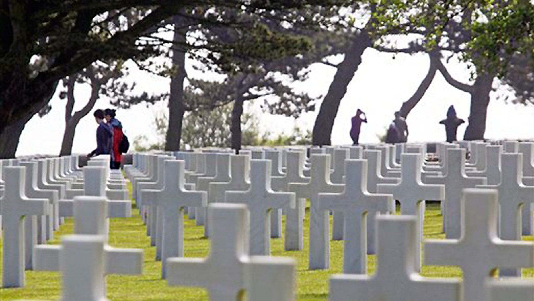 June 6, 2013: Visitors walk among the graves at the Colleville American military cemetery, in Colleville sur Mer, western France on the day of the commemoration of the 69th anniversary of the D-Day.