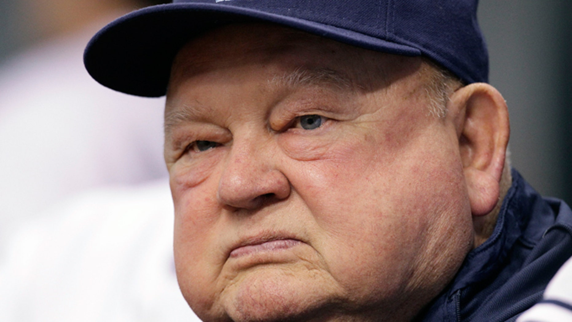 FILE - Sept. 1, 2010: Tampa Bay Rays special adviser Don Zimmer looks on during a baseball game between the Tampa Bay Rays and the Toronto Blue Jays in St. Petersburg, Fla. Don Zimmer, a popular fixture in professional baseball for 66 years as a manager, player, coach and executive died on June 4, 2014. He was 83.