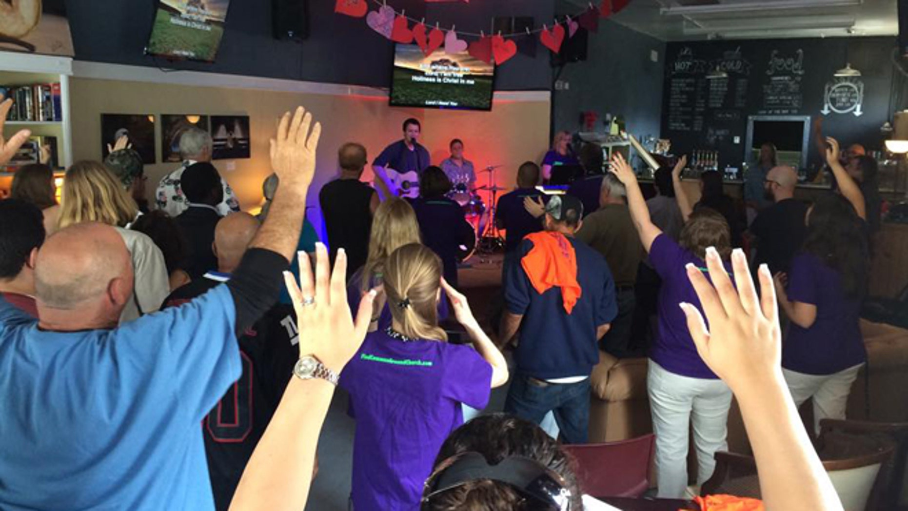 A worship service at Common Ground Church in Lake Worth, Fla.