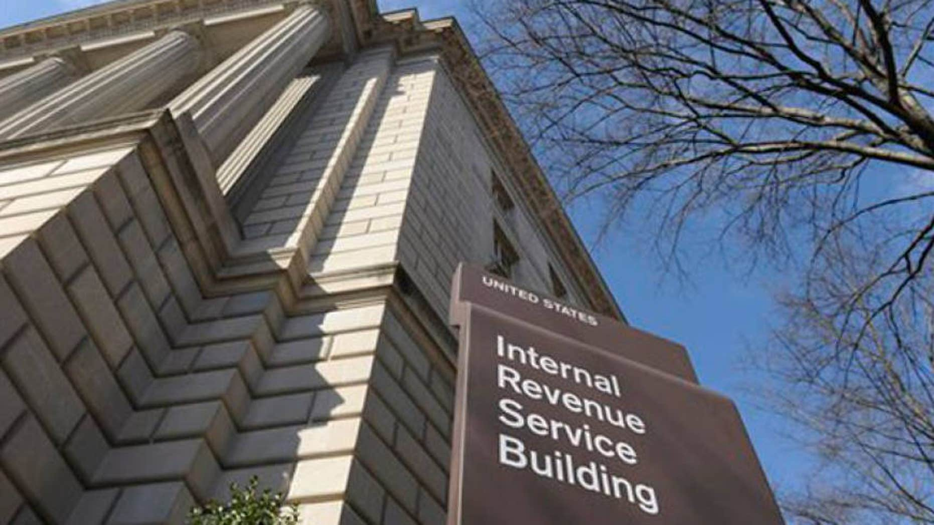 March 22, 2013: Exterior of the Internal Revenue Service building in Washington.