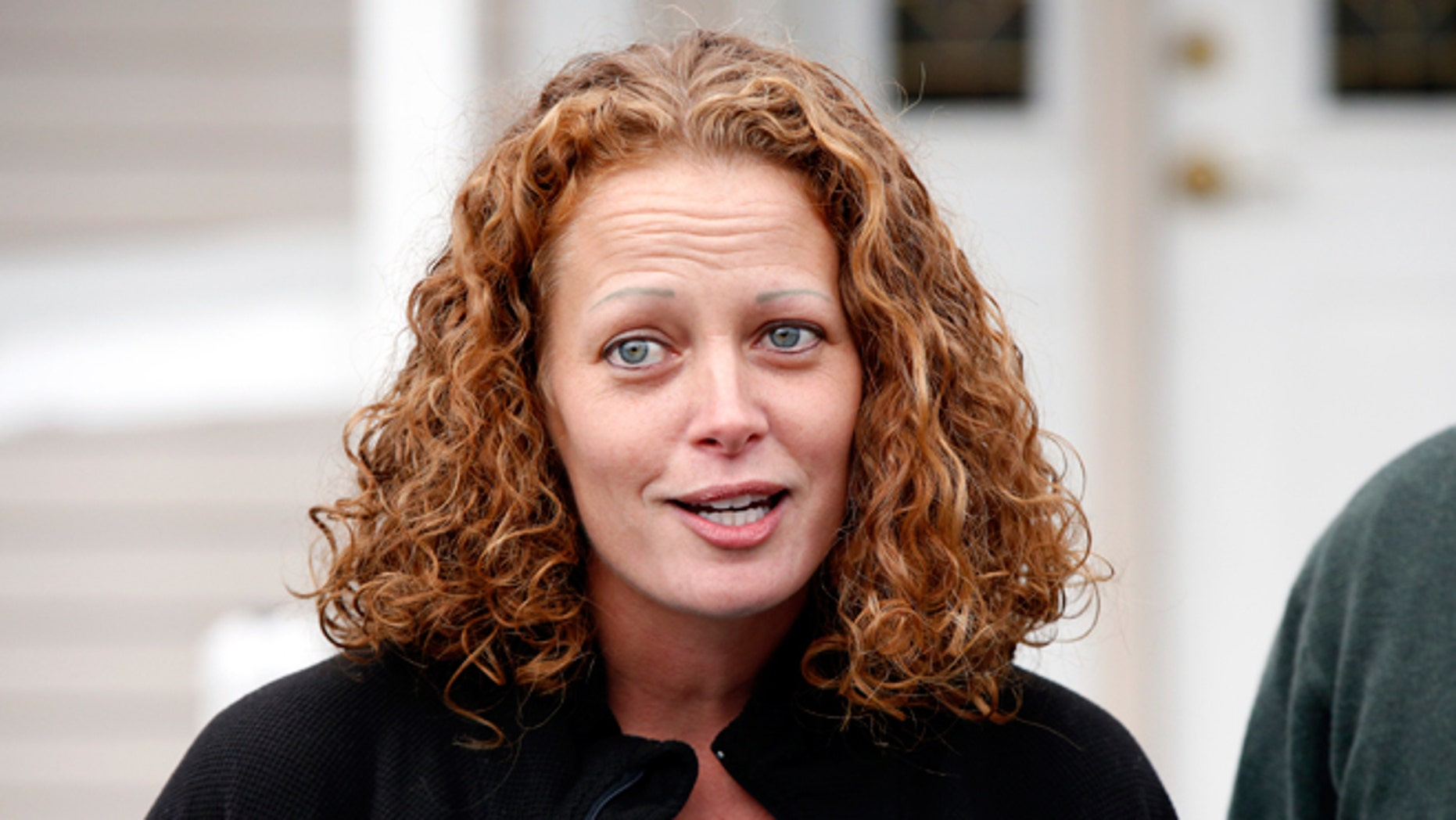 Oct. 31, 2014: Nurse Kaci Hickox speaks to reporters outside her home in Fort Kent, Maine. A Maine judge gave Hickox the OK to go wherever she pleases, handing state officials a defeat in their bid to restrict her movements as a precaution against Ebola.