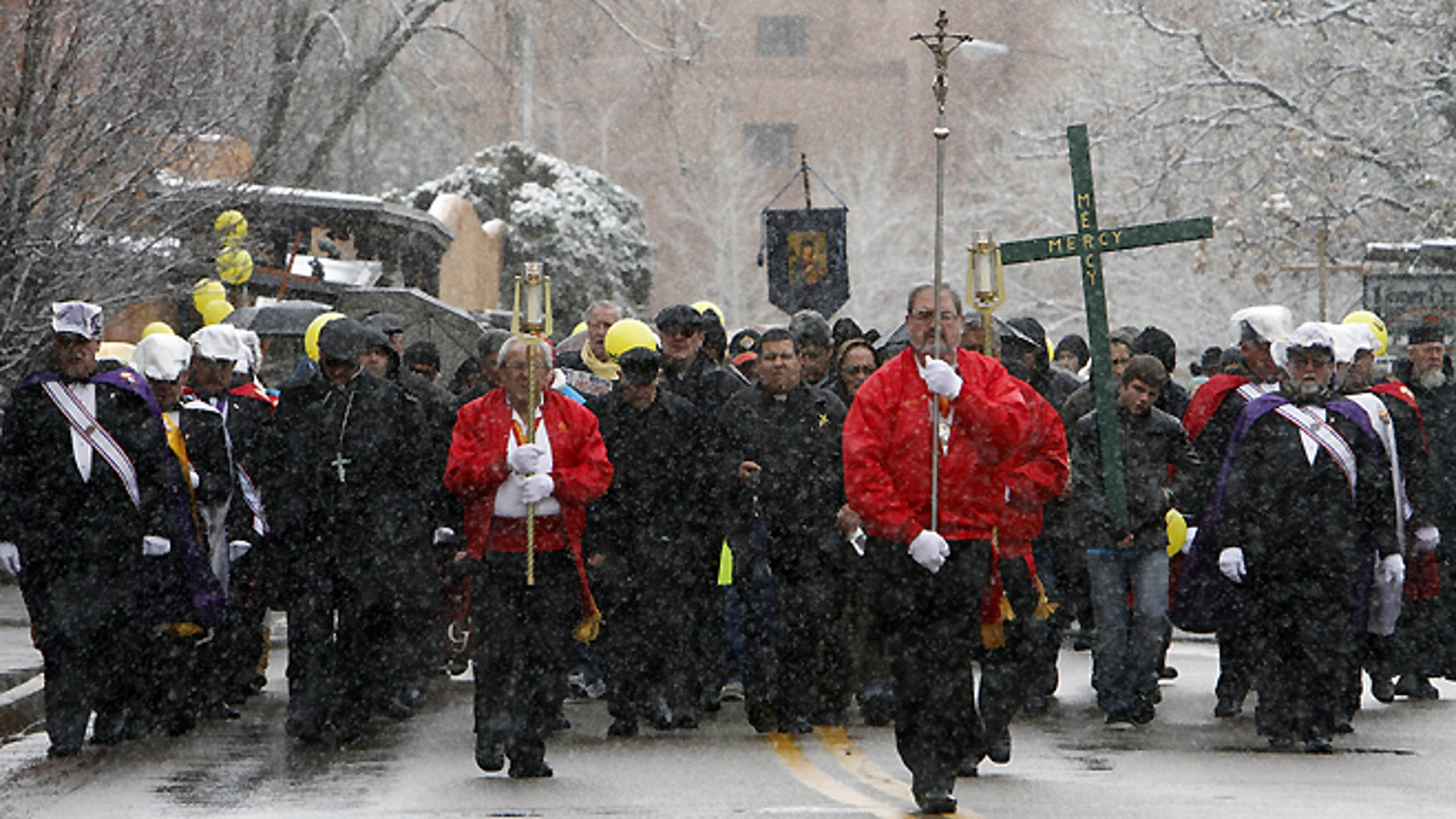Jan. 21, 2015: A pro-life march near the State Capitol in Santa Fe, N.M.
