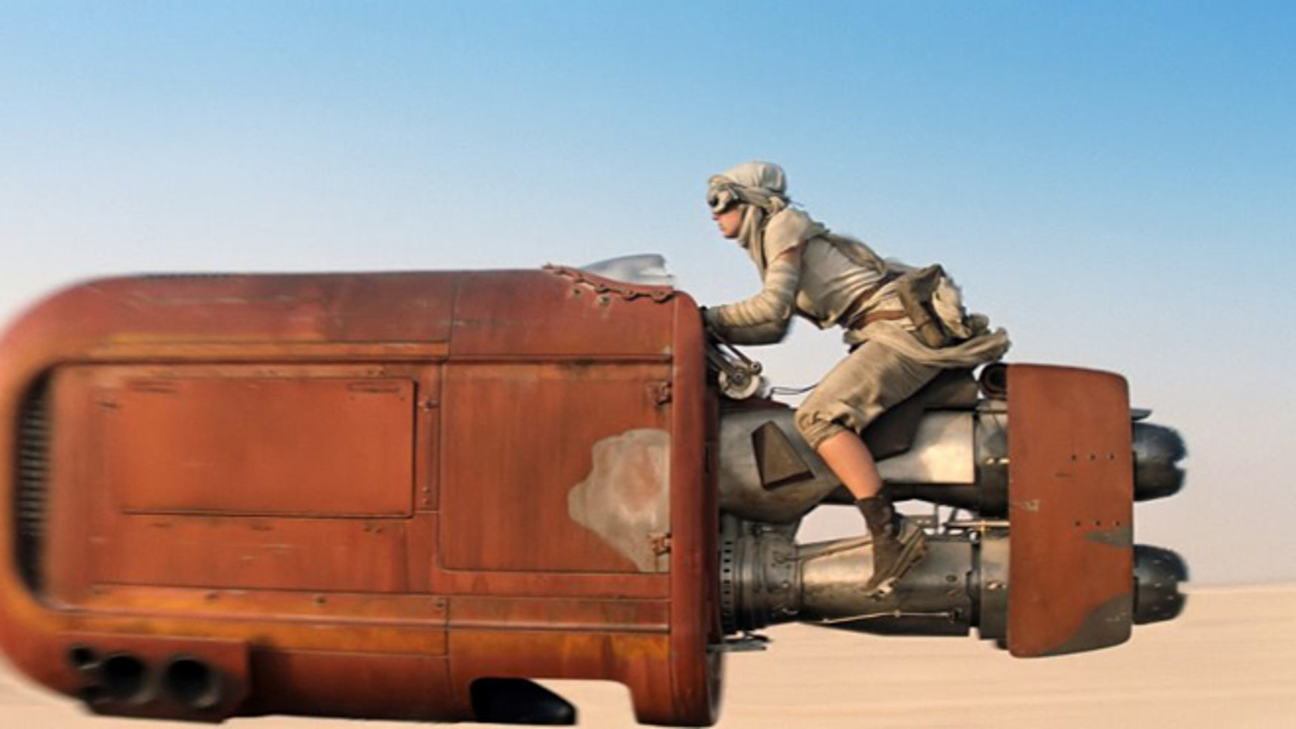 """A scene is shown from the upcoming film, """"Star Wars: The Force Awakens,"""" expected in theaters on Dec. 18, 2015."""