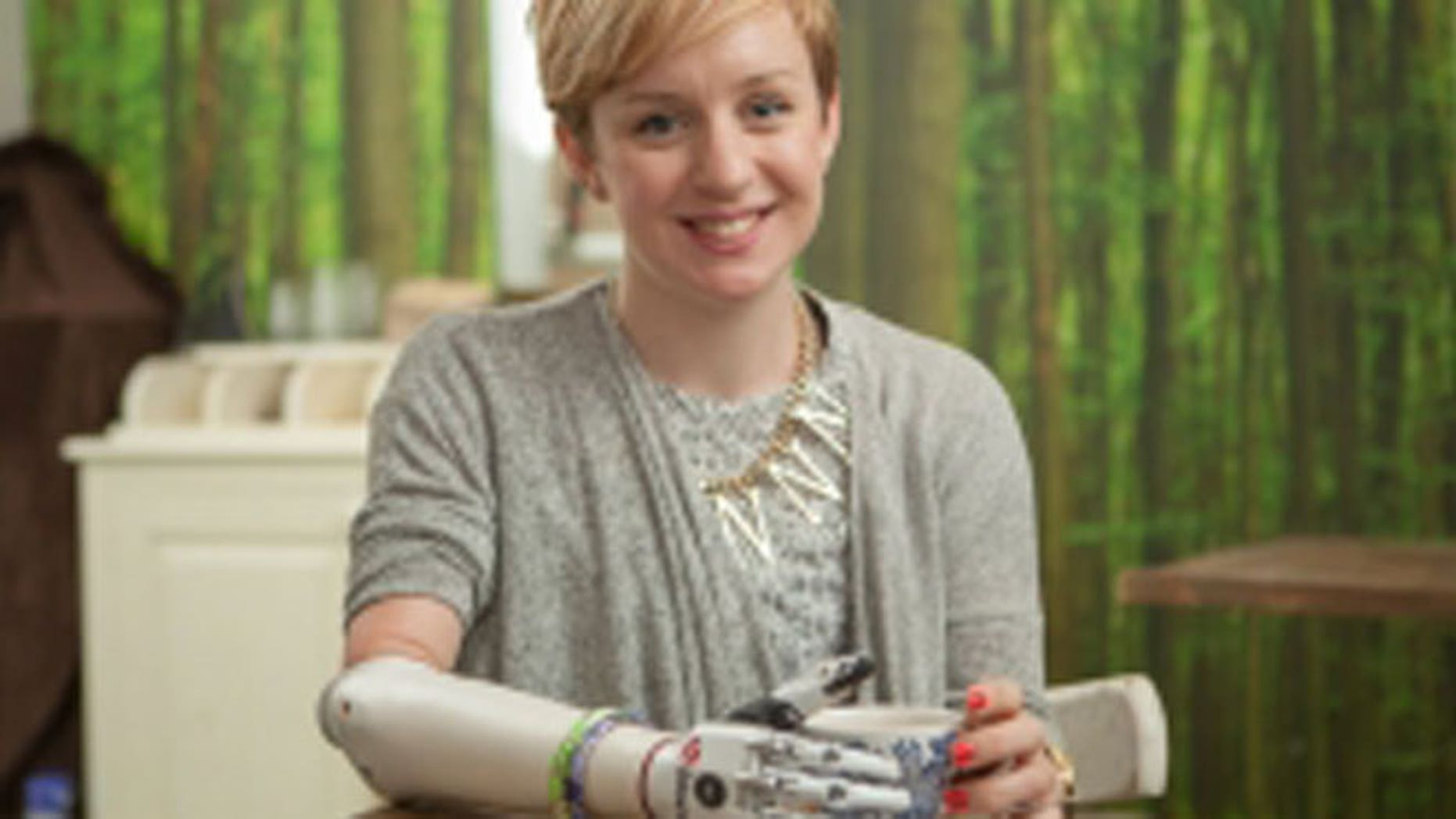 Nicky Ashwell, 29, was the first person in the United Kingdom to be fitted with the bebionic small hand.