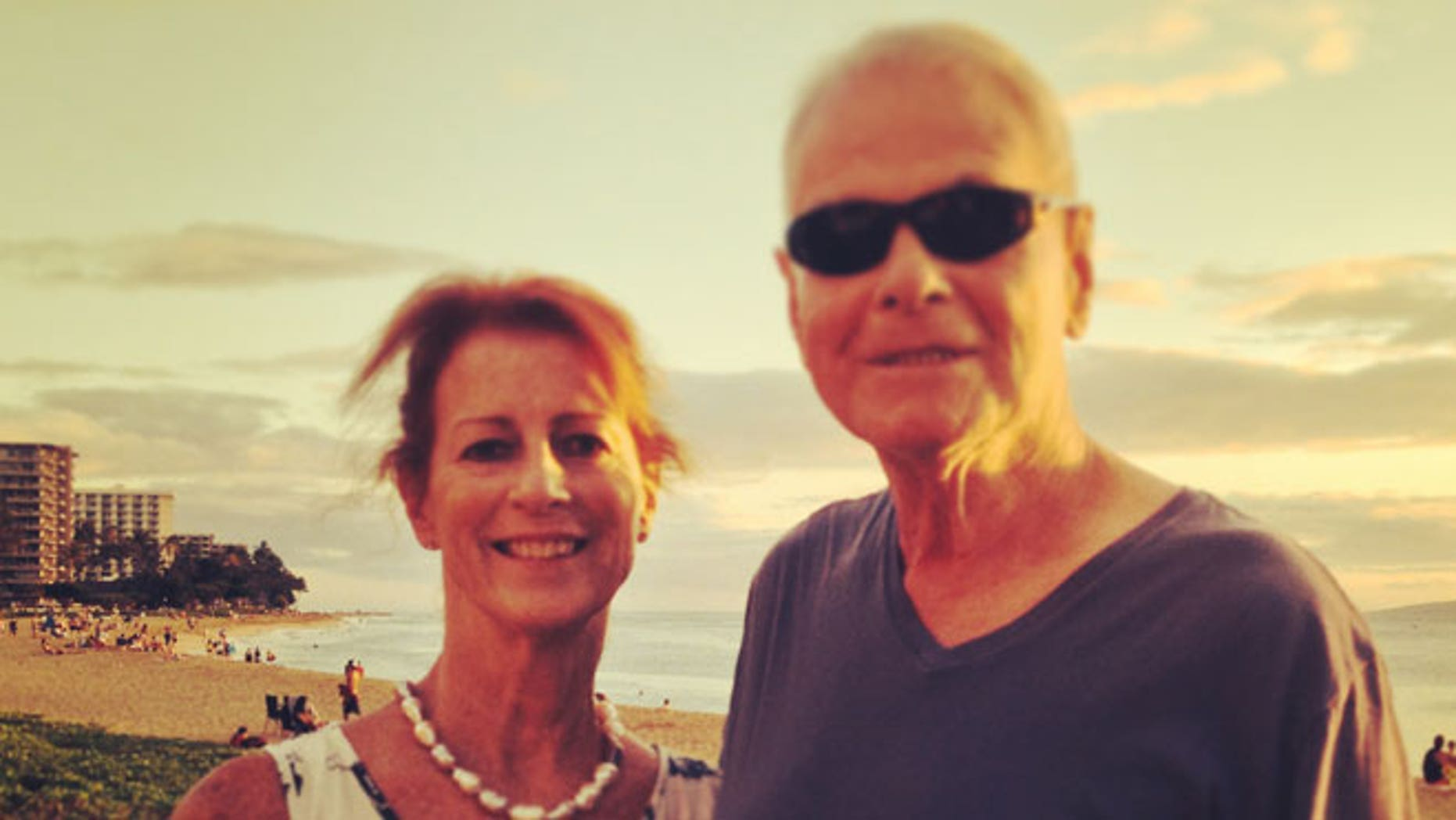 Noreen vacationing with her father, Fred Friend