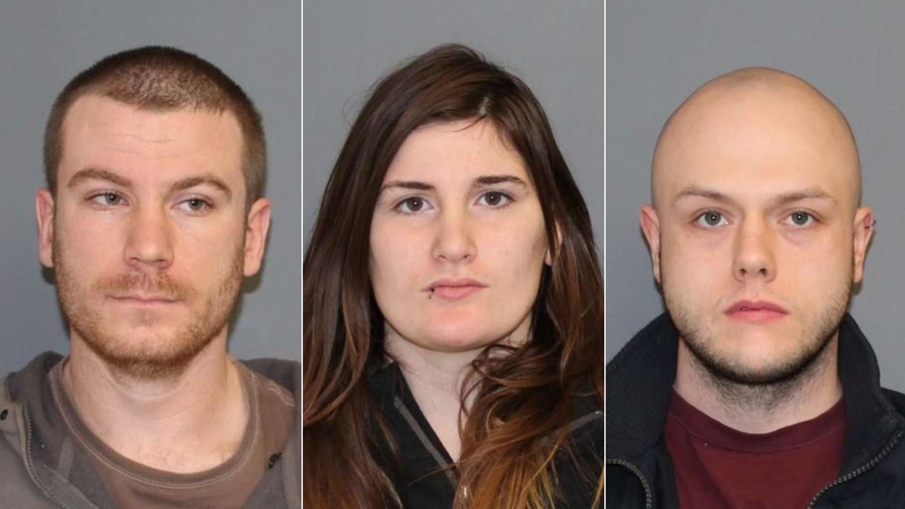 Gregory Rottjer, Jennifer Hannum and  Matthew Dorso face charges for throwing a person off a bridge in Connecticut.