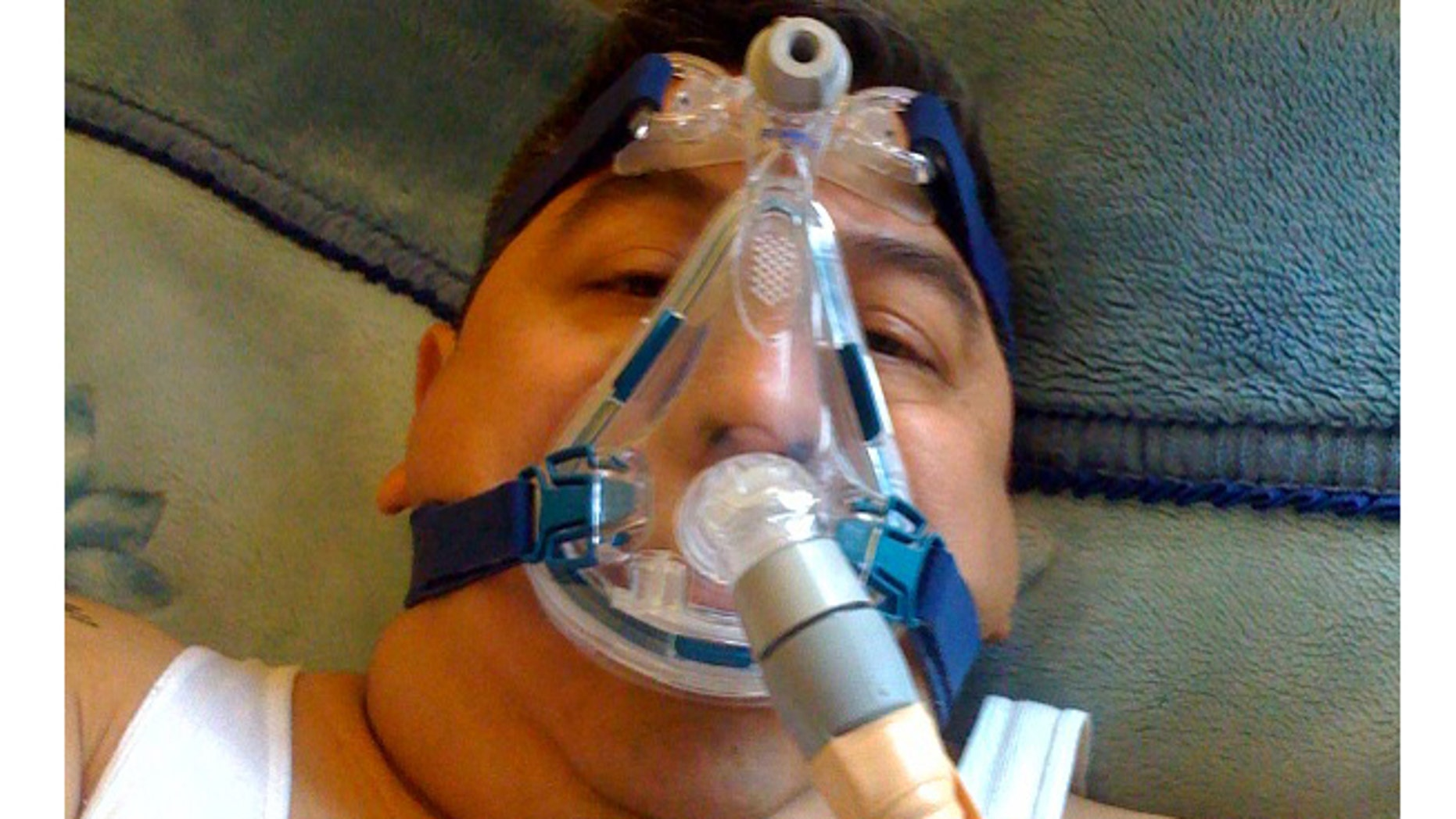 Rafael Hernández says that he must sleep hooked up to a respirator because of toxic dust he inhaled during several months of work at Ground Zero, where the Mexico native helped search for survivors and remains after the Sept. 11 attacks.