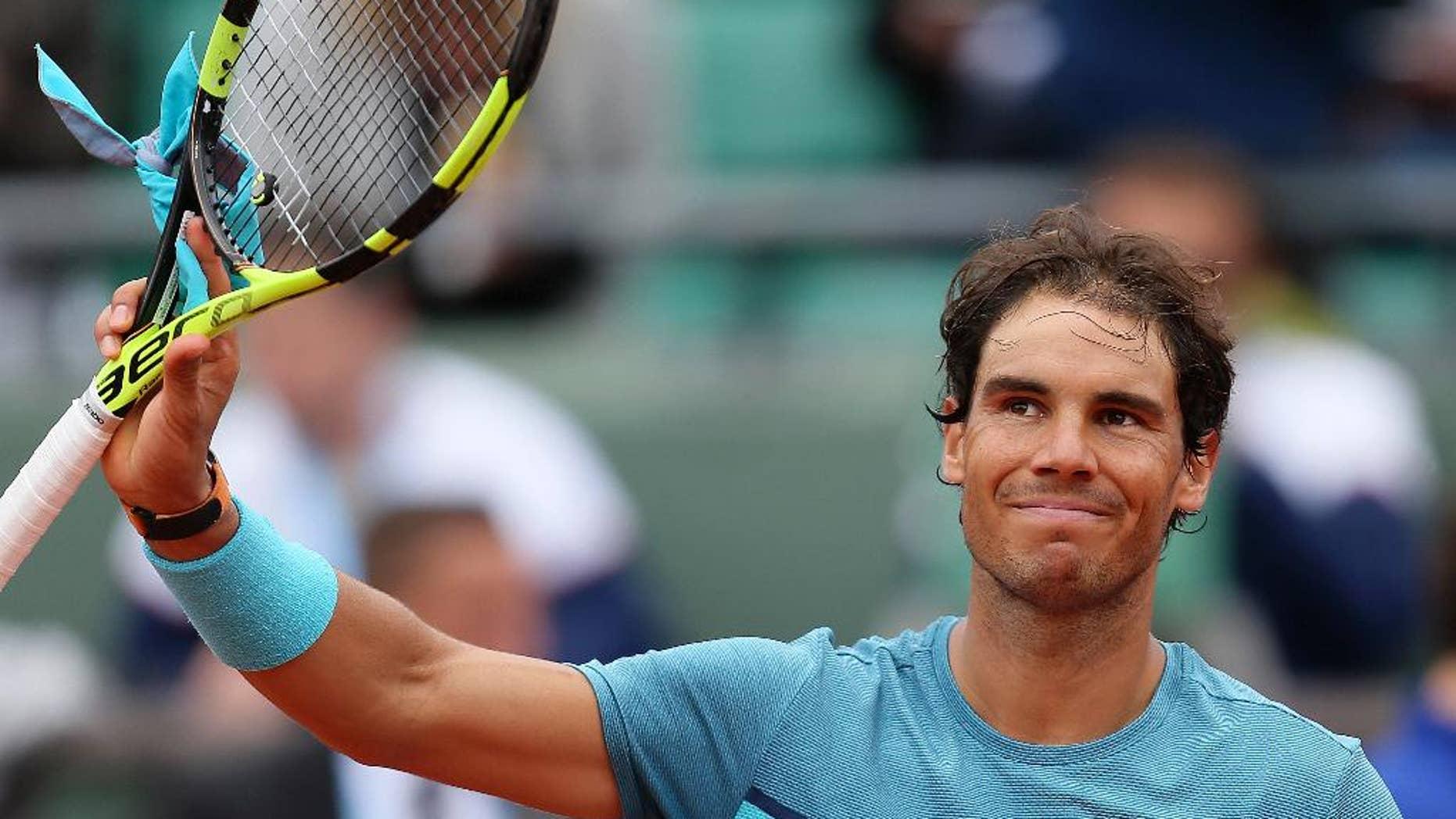 Rafael Nadal on Tuesday.