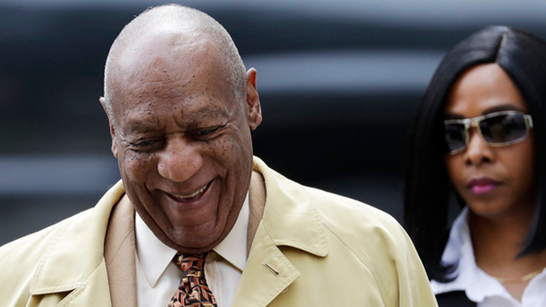 Bill Cosby arrives for a pretrial hearing.