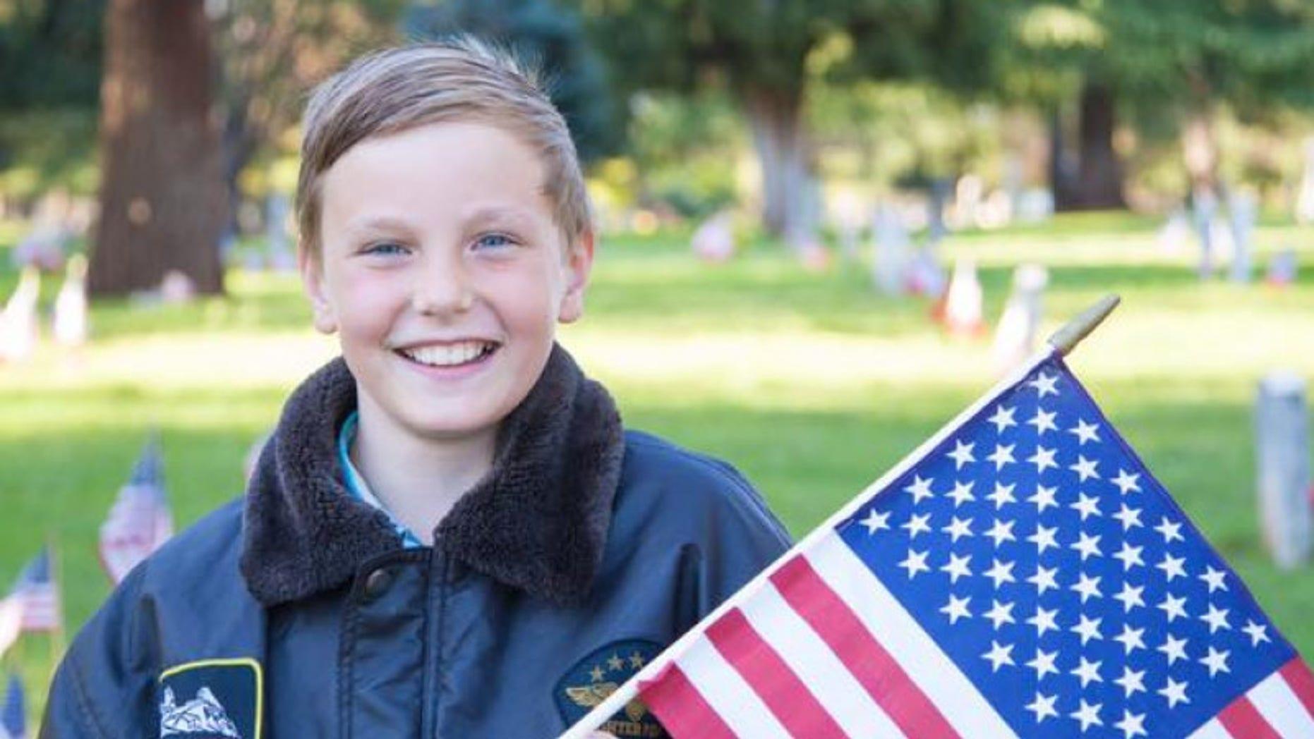 Preston Sharp is raising money to help honor veterans in California.