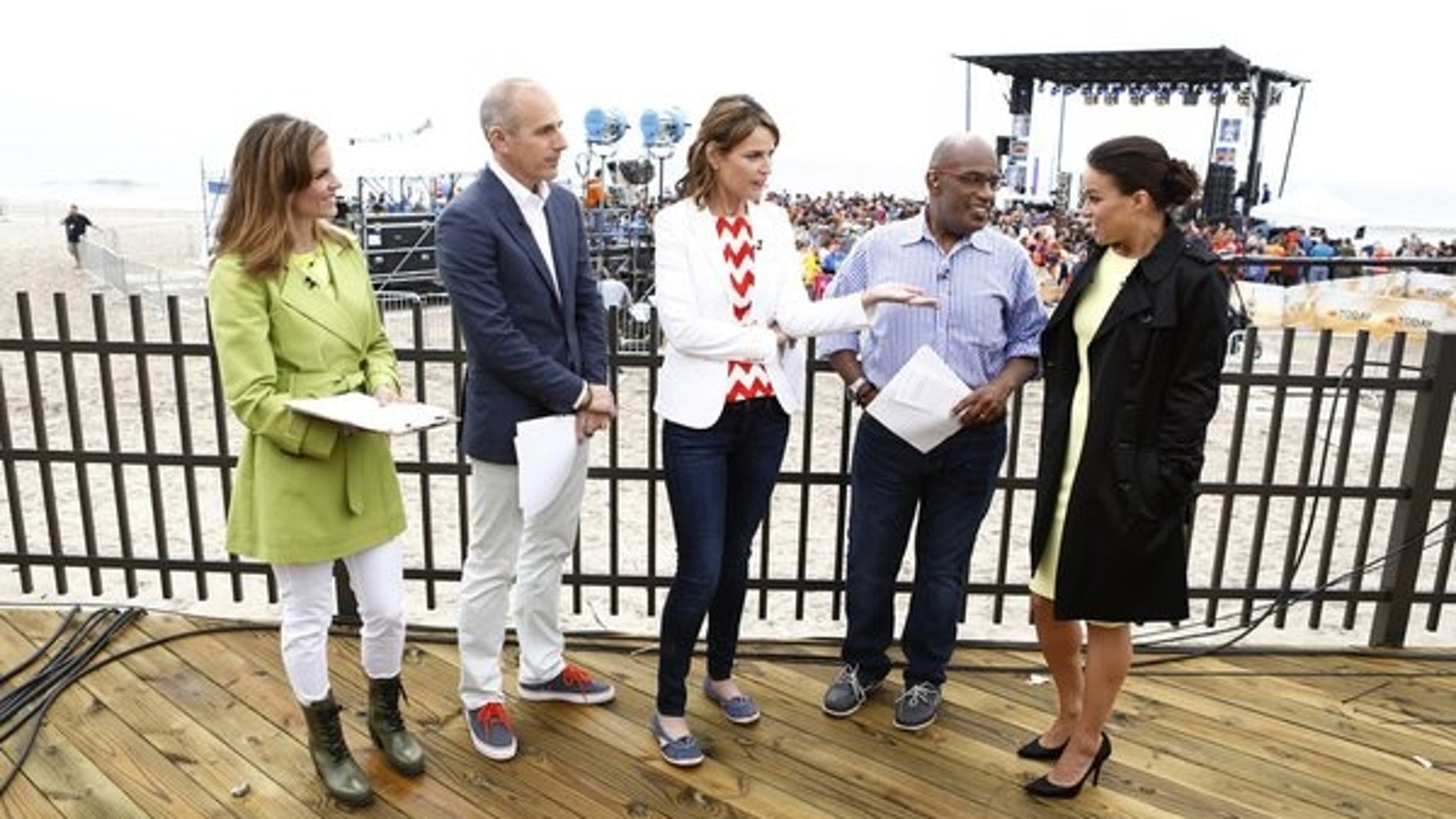 "Natalie Morales, Matt Lauer, Savannah Guthrie, Al Roker and Michelle Rodriguez appear on NBC News' ""Today"" show."