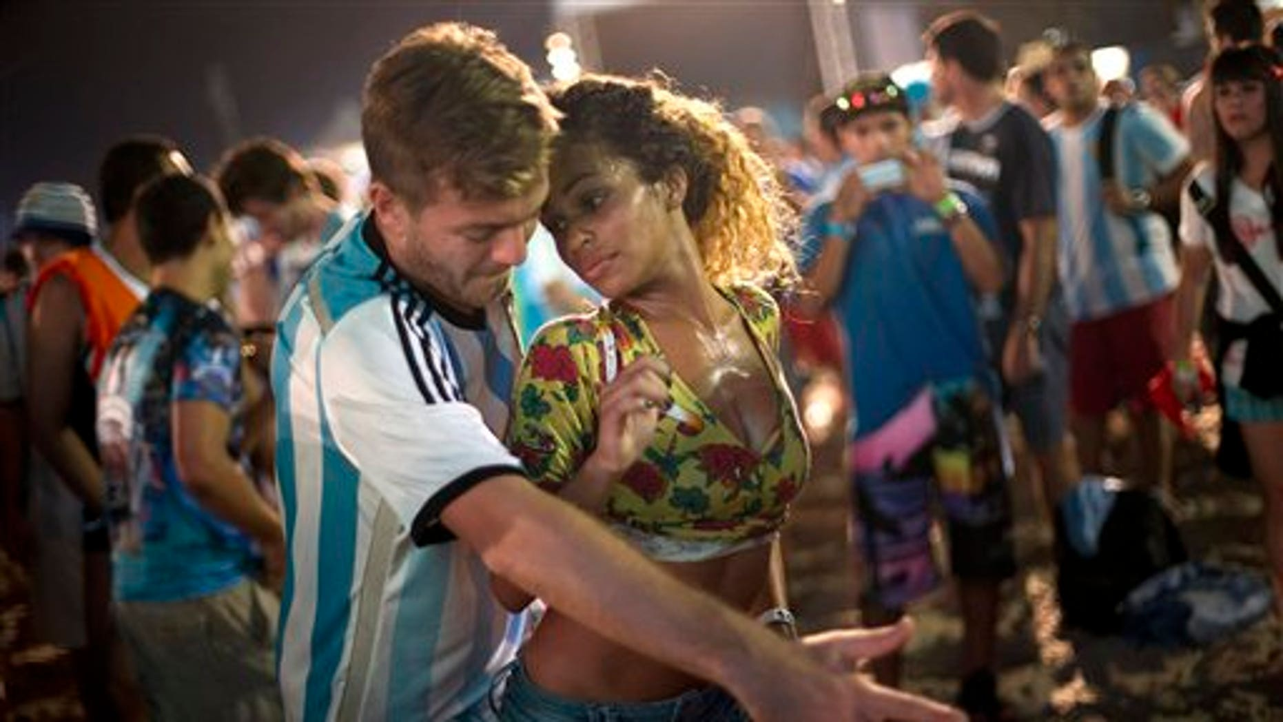 Samba night at the World Cup Fan Fest 2014, on Copacabana beach, in Rio de Janeiro, July 9, 2014.