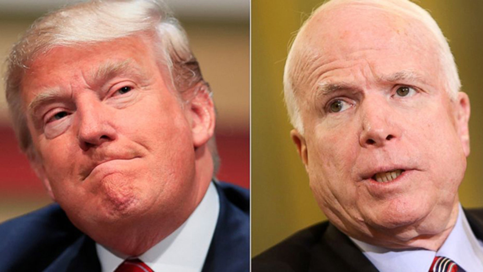 Arizona GOP Sen. John McCain, right, a Vietnam war prisoner, on Saturday criticized President Trump, left, for failing to mention Vietnam's ongoing human rights violations while visiting Da Nang.