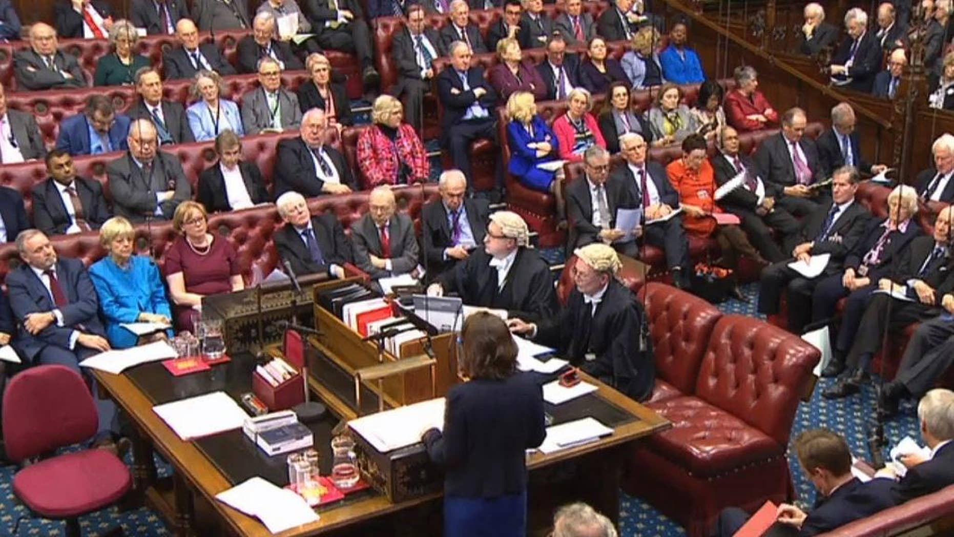 Feb. 20, 2017: Baroness Williams of Trafford speaks in the House of Lords as they debate the Brexit Bill.