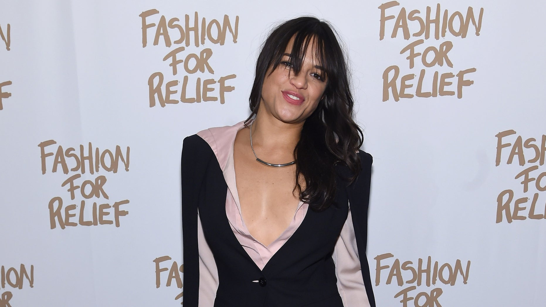 NEW YORK, NY - FEBRUARY 14:  Actress Michelle Rodriguez attends Naomi Campbell's Fashion For Relief Charity Fashion Show during Mercedes-Benz Fashion Week Fall 2015 at The Theatre at Lincoln Center on February 14, 2015 in New York City.  (Photo by Jamie McCarthy/Getty Images For Fashion For Relief)