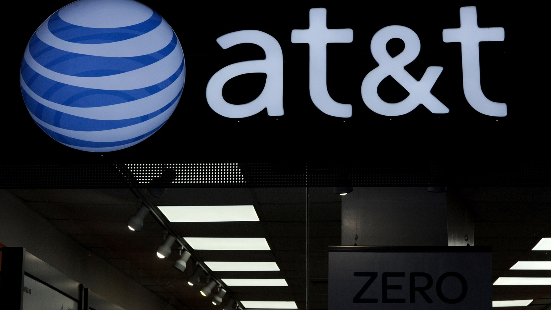 An AT&T logo is seen at a AT&T building in New York City, October 23, 2016. (REUTERS/Stephanie Keith)