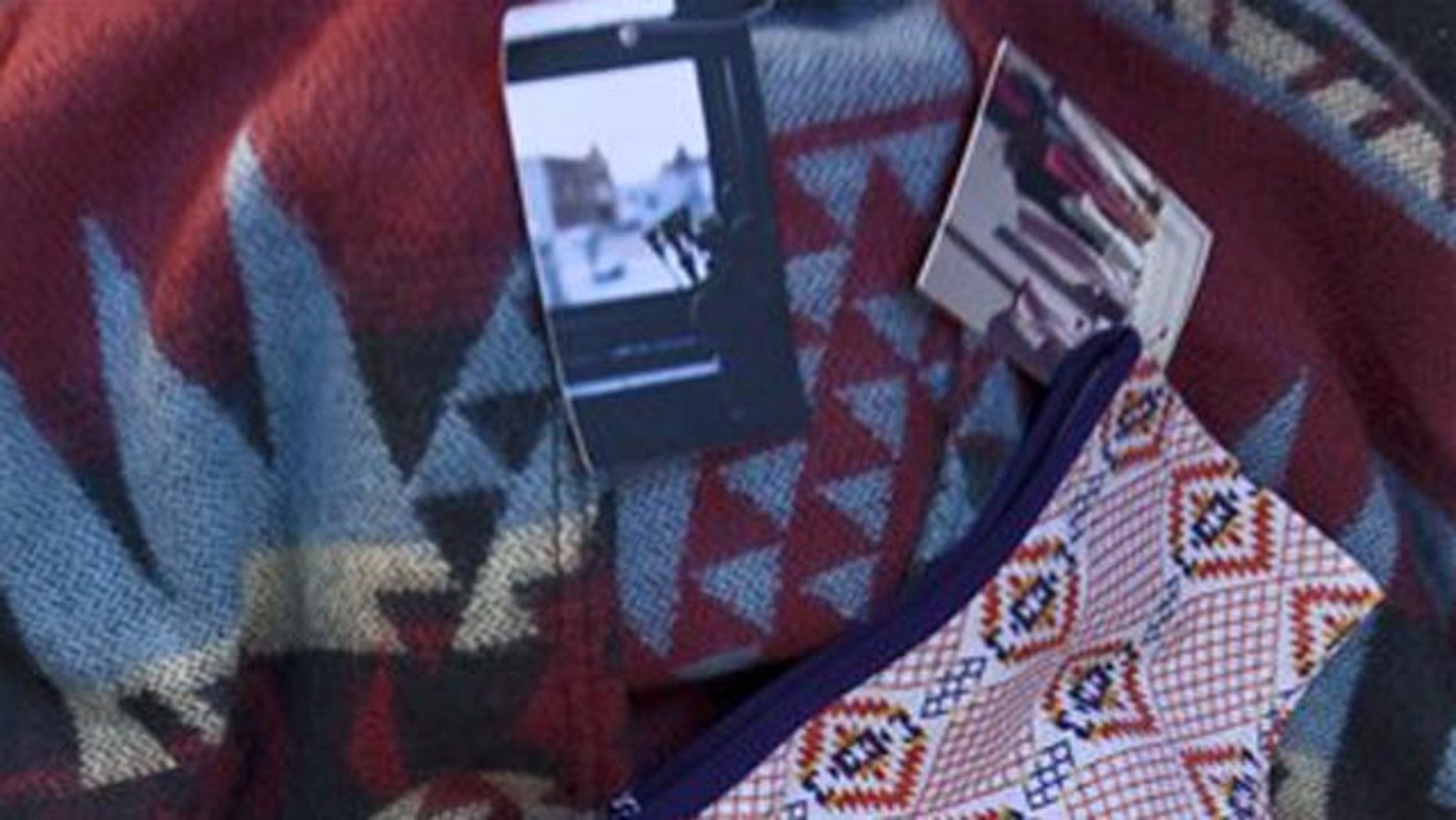 Oct. 14: Purchased items from Urban Outfitters' Navajo line are shown in Tempe, Ariz.