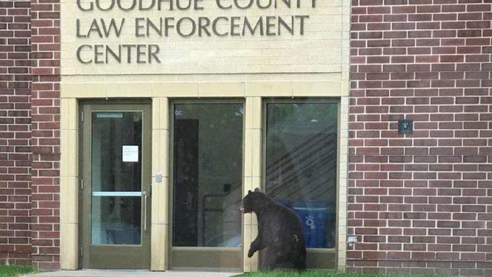 "A so-called ""friendly visitor"" stopped by a Minnesota sheriff's office on Friday, authorities say."