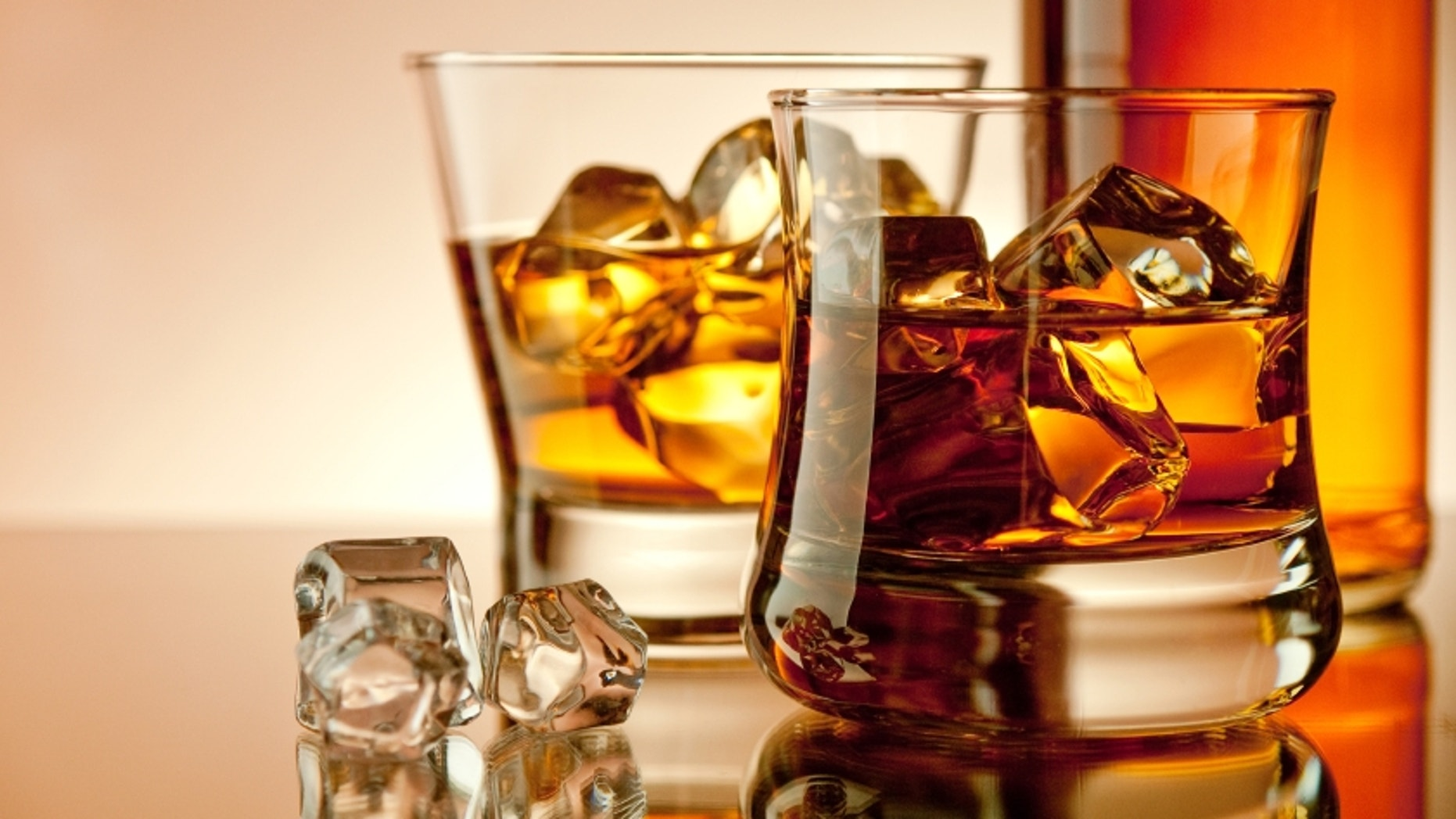 Old fashion whiskey on the rocks