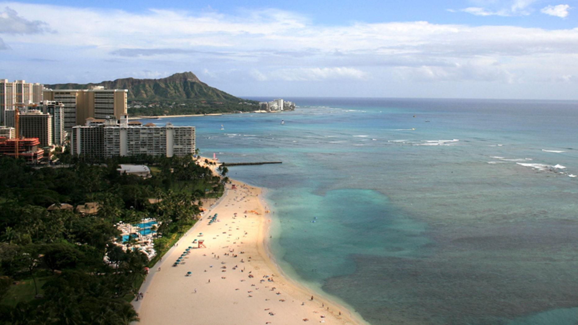 Kahanamoku Beach in Waikiki, Hawaii. (AP Photo/Hilton Hawaiian Village Beach Resort )