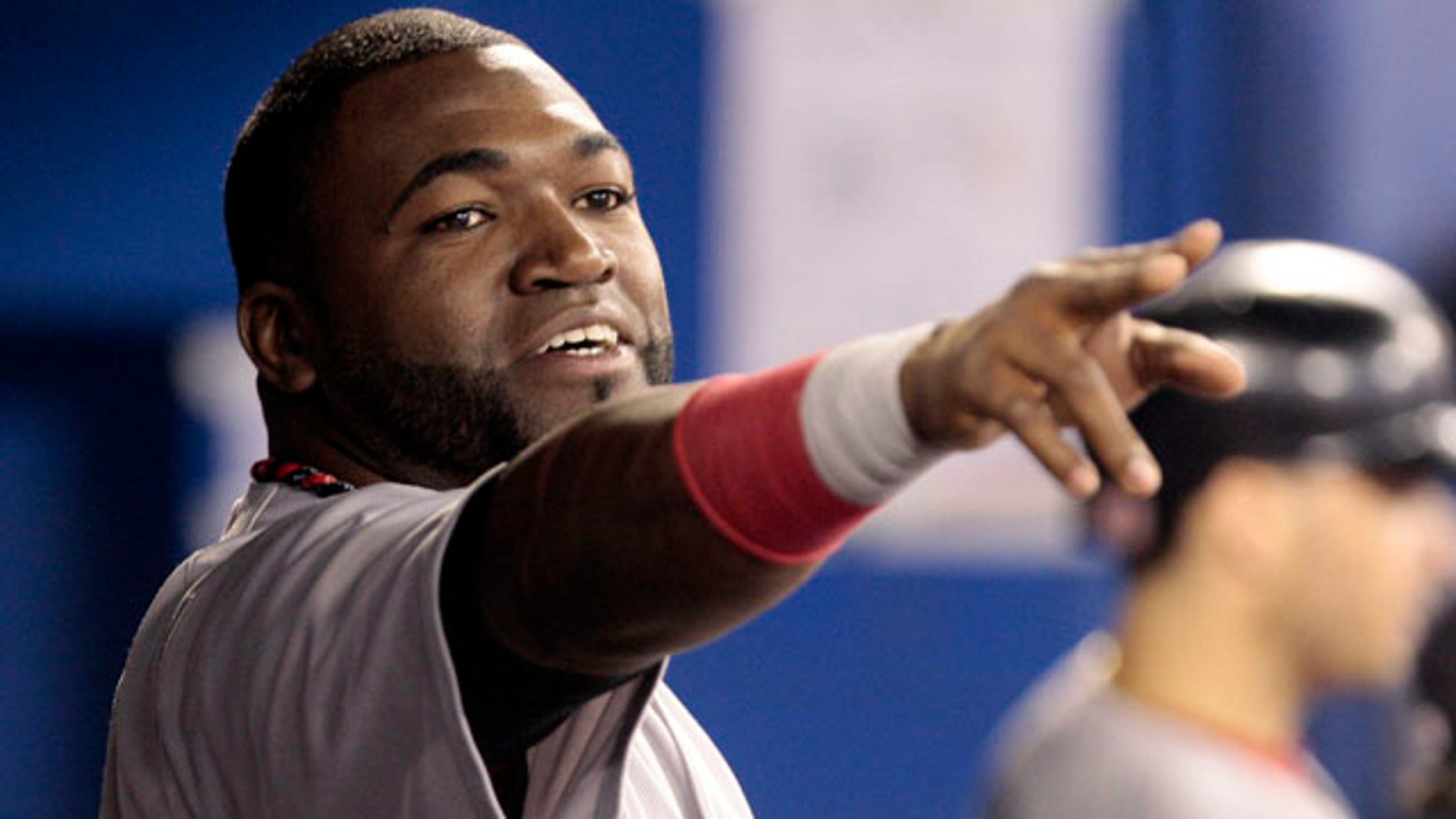 David Ortiz #34 of the Boston Red Sox celebrates his home run against the Toronto Blue Jays during MLB action at the Rogers Centre September 7, 2011 in Toronto, Ontario, Canada. (Photo by Abelimages/Getty Images)
