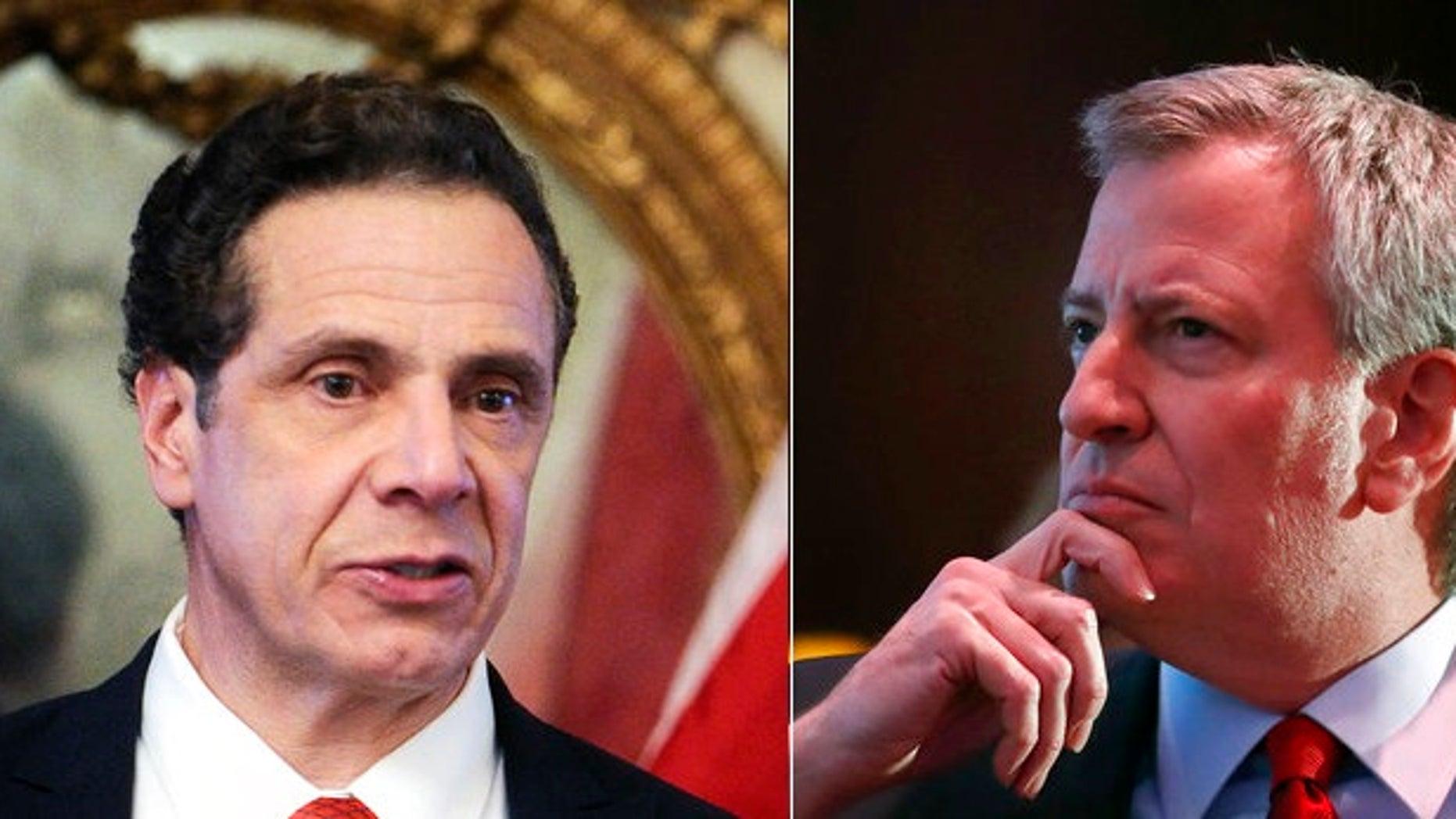 Despite both being Democrats, New York Gov. Andrew Cuomo, left, and New York City Mayor Bill de Blasio often fail to see eye to eye.