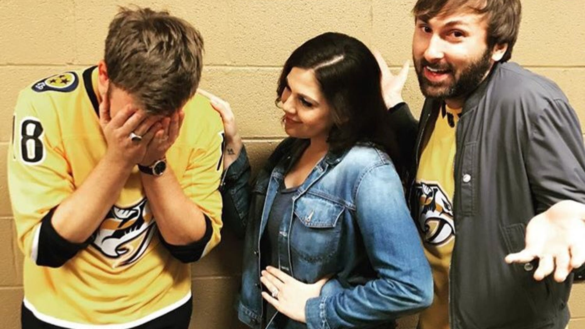 Lady Antebellum ran into some trouble as they forgot the lyrics during the performance of the National Anthem at the NHL playoff game between the Nashville Predators and Winnipeg Jets in Nashville.