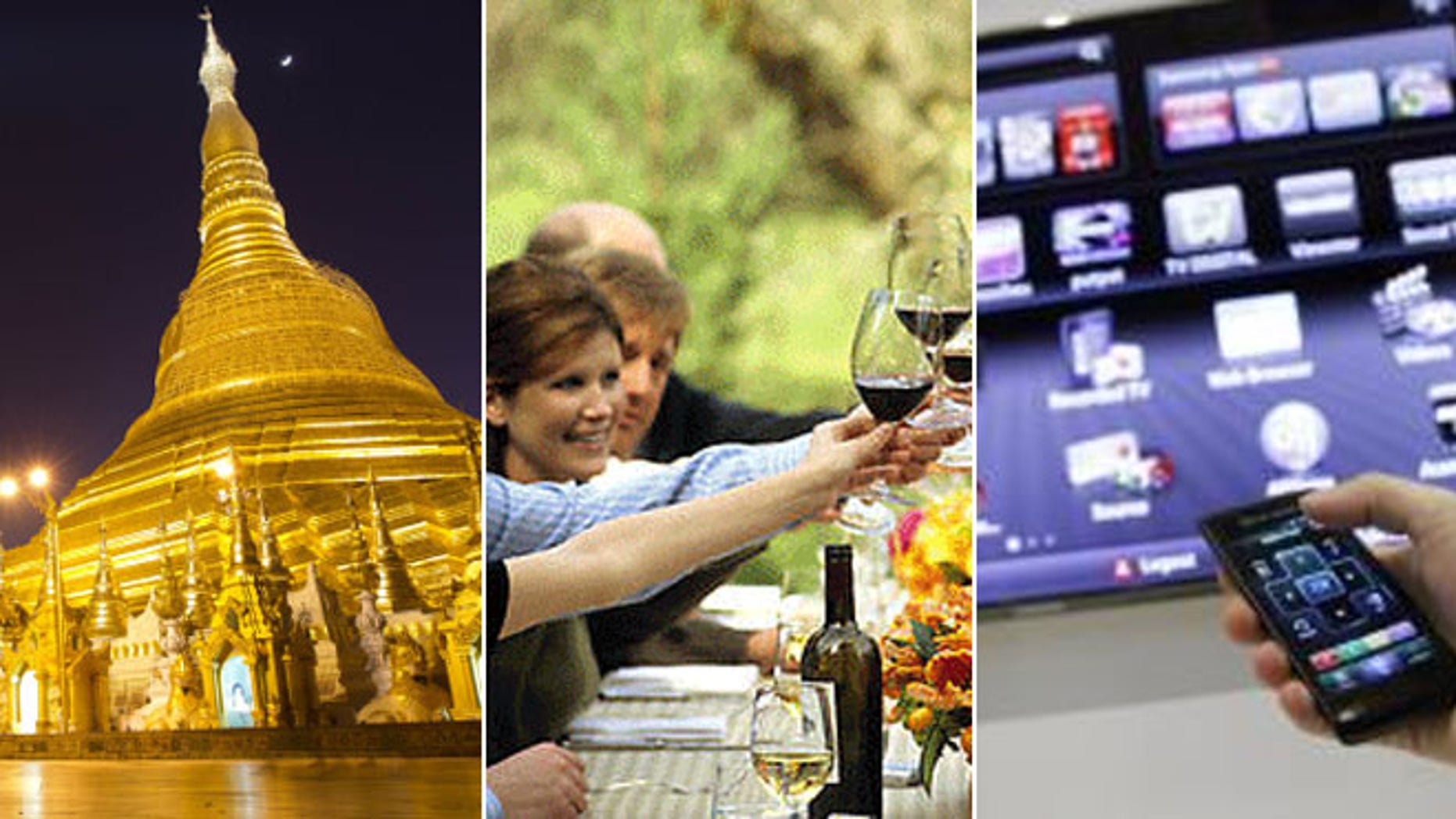 Some trends include trips to once-closed countries, such as Burma, gadget-free getaways to wine country and using smart TVs to book travel.