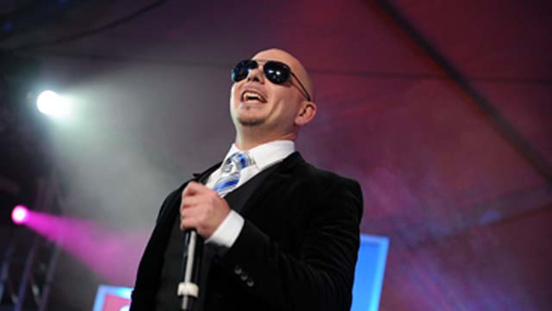 Feb. 5, 2011: Rapper Pitbull performs during the Bud Light Hotel event in Dallas, Texas.